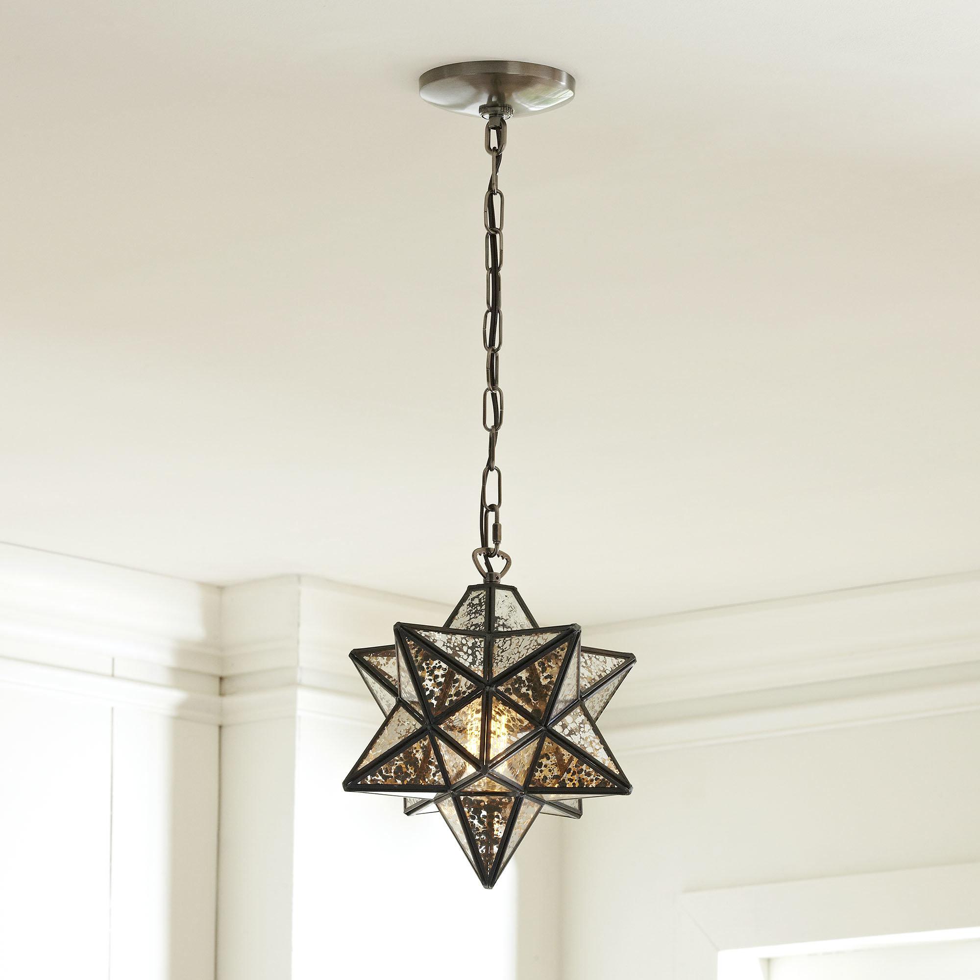 1 Light Single Star Pendant In Most Recent Louanne 1 Light Lantern Geometric Pendants (Gallery 25 of 25)