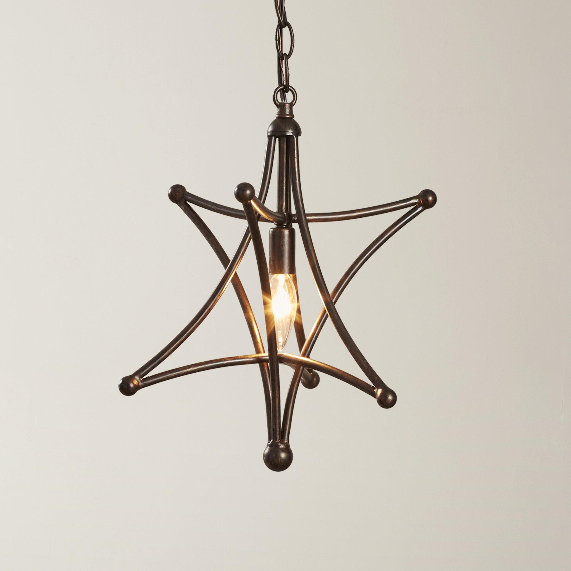 1 Light Single Star Pendants For Favorite Cynthia 1 Light Single Star Pendant (Gallery 12 of 25)