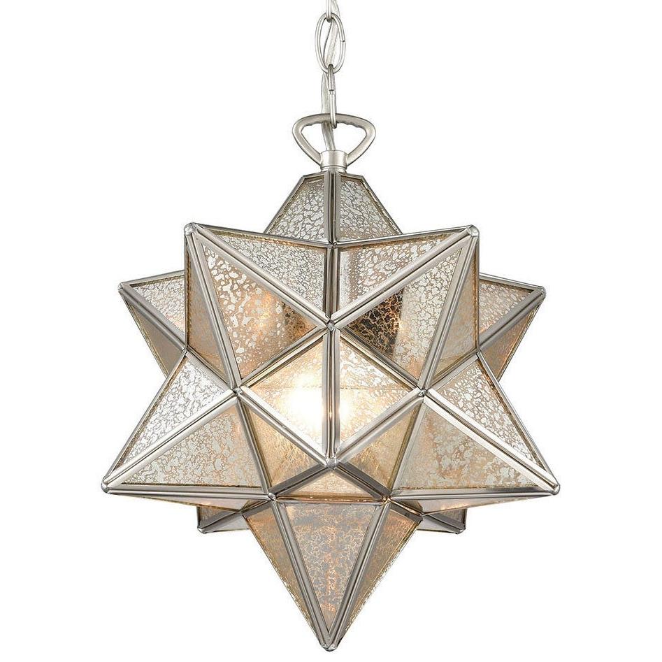 "1 Light Single Star Pendants In Current Elk Home 1145 022 Moravian Star Single Light 12"" Wide Pendant (Gallery 11 of 25)"