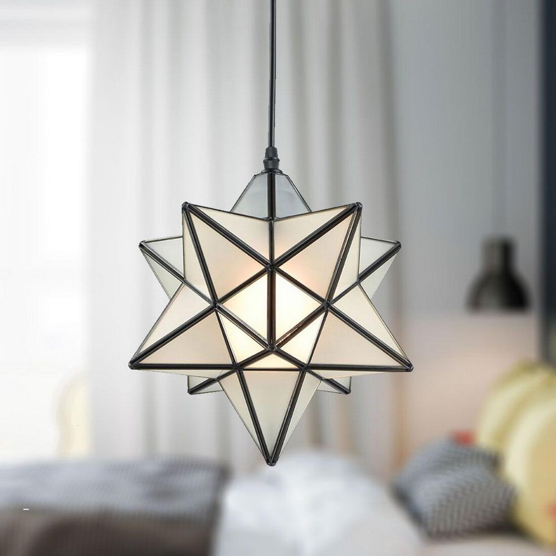 1-Light Single Star Pendants within Recent Denzel 1-Light Single Star Pendant