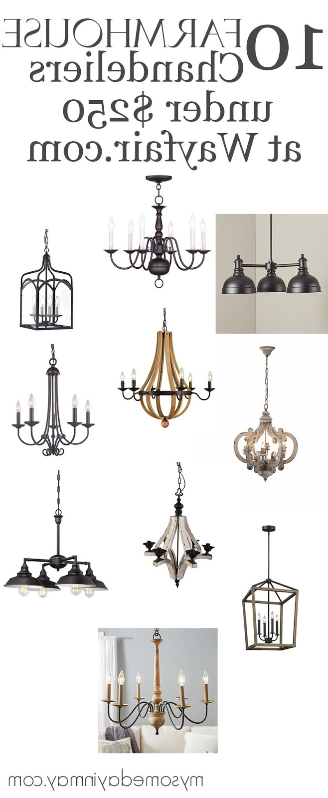 2019 Alayna 4 Light Shaded Chandeliers With Regard To 10 Farmhouse Chandeliers Under $250 – My Someday In May (View 1 of 25)
