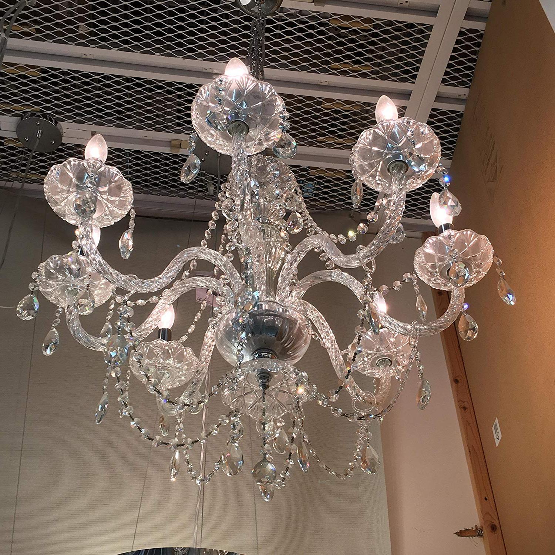 2019 Amazon: 8-Light Crystal Chandelier: Home & Kitchen within Gracelyn 8-Light Kitchen Island Pendants