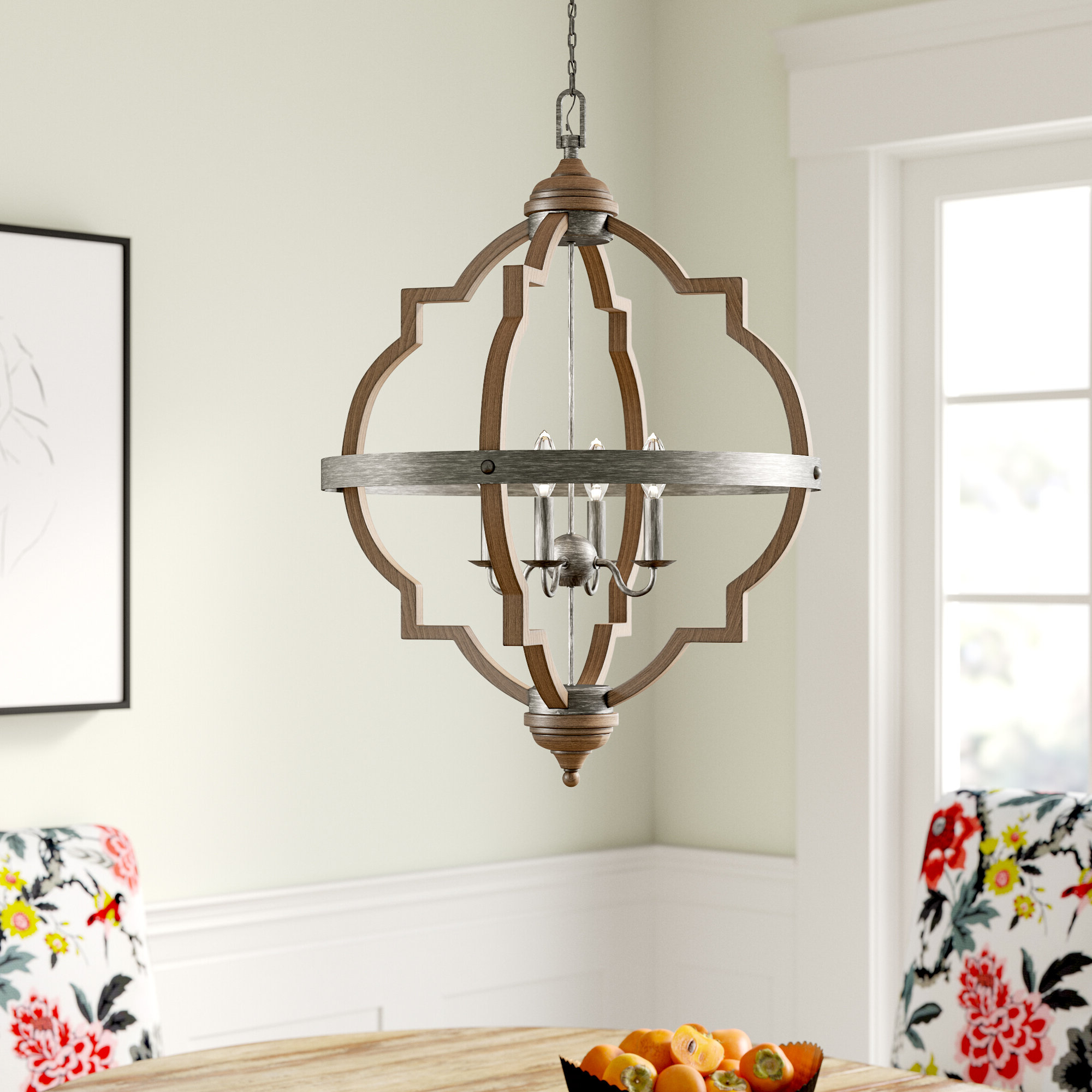 2019 Annuziata 3-Light Unique/statement Chandeliers throughout Bennington 4-Light Candle Style Chandelier