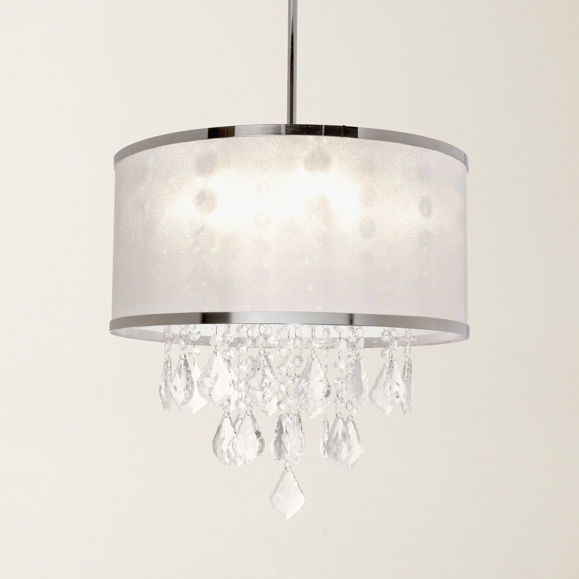 2019 Aurore 4 Light Crystal Chandeliers In House Of Hampton® Leibowitz 4 Light Drum Chandelier (View 20 of 25)