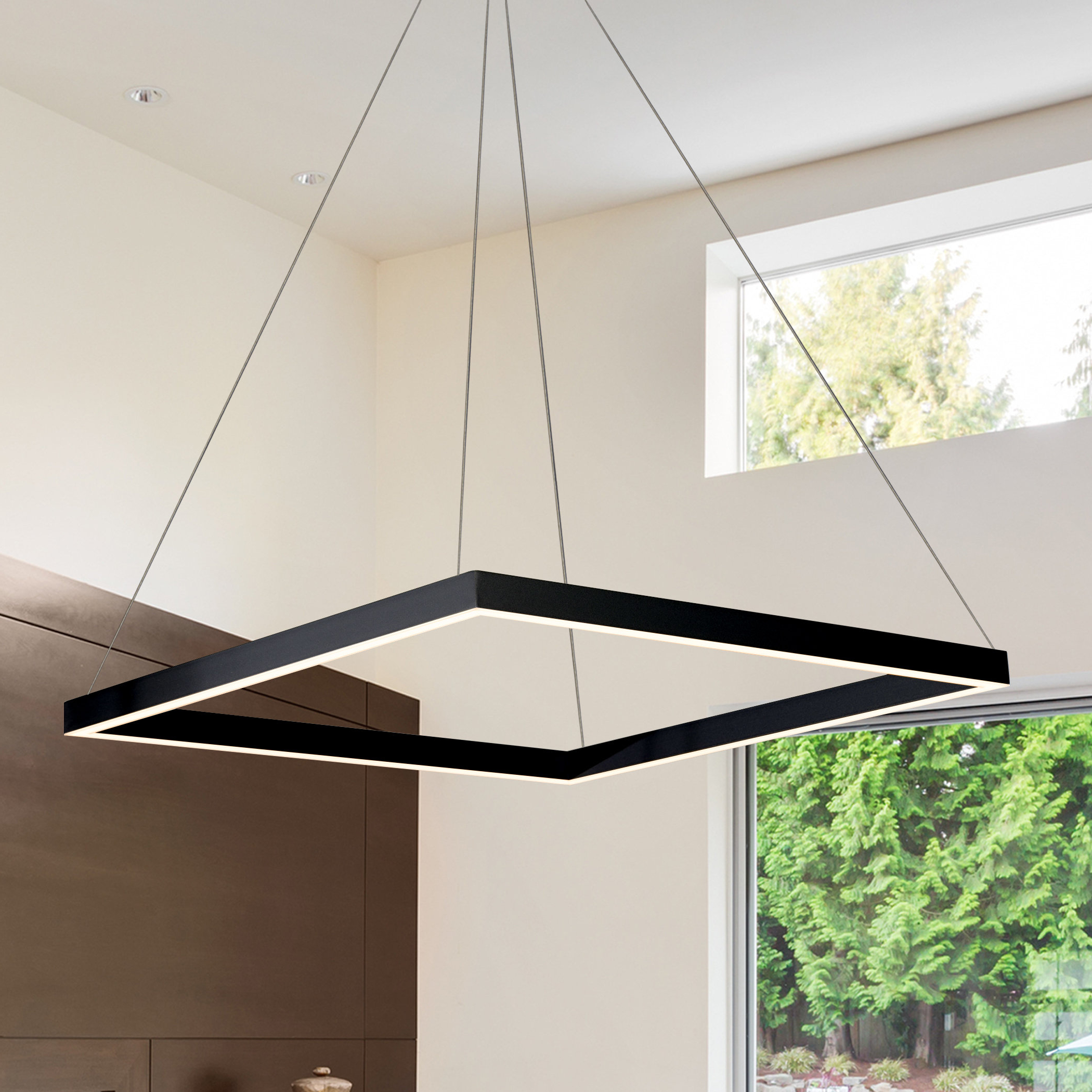 2019 Black Square & Rectangular Chandeliers You'll Love In 2019 With Hewitt 4 Light Square Chandeliers (View 14 of 25)