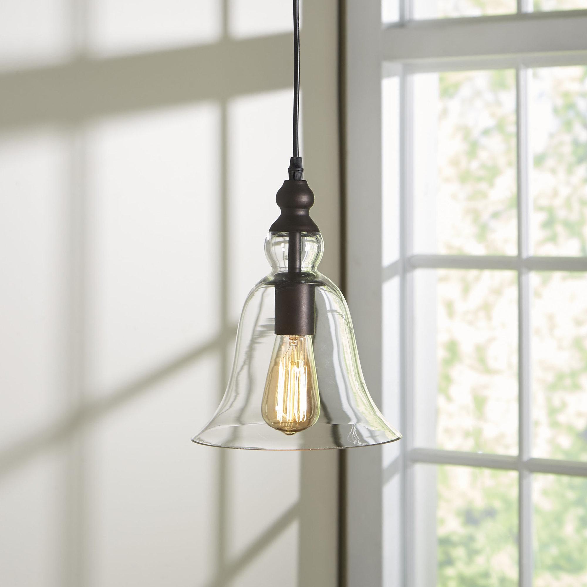 2019 Bouvet 1 Light Bell Pendant Regarding Carey 1 Light Single Bell Pendants (View 1 of 25)