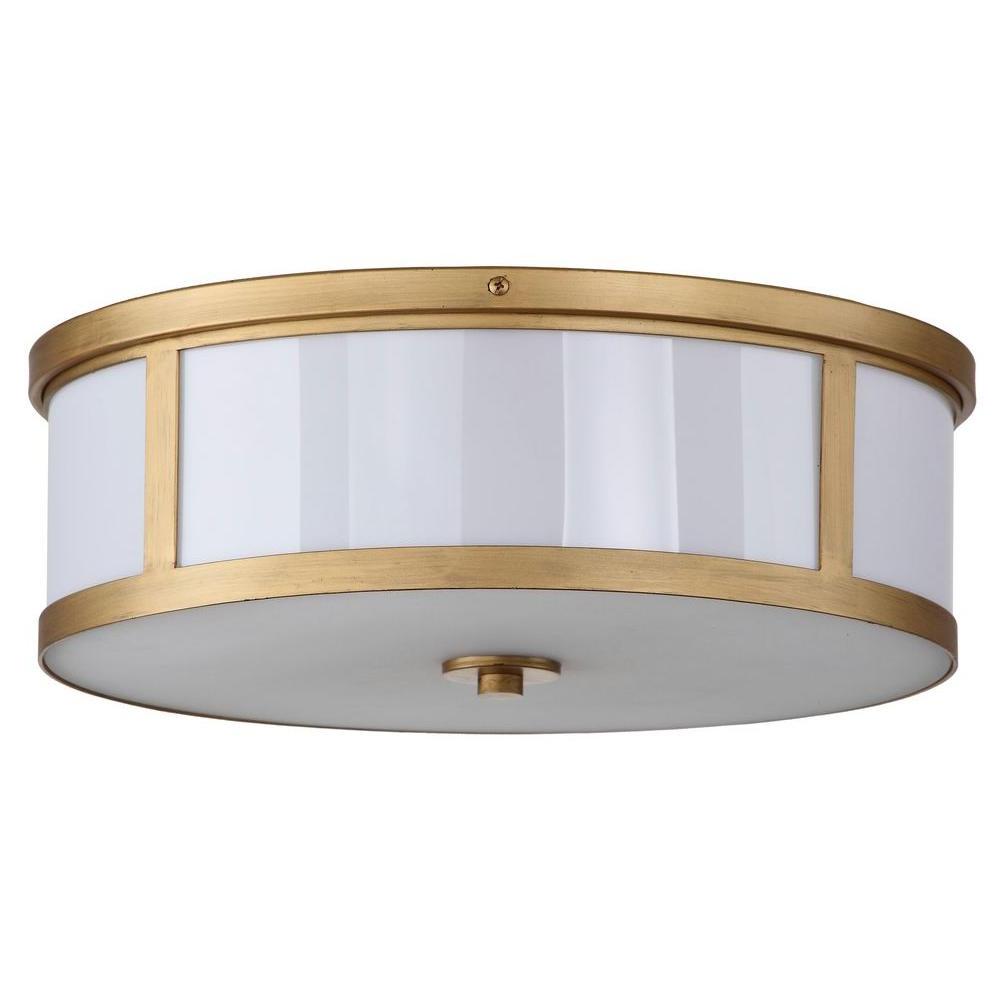 2019 Breithaup 4-Light Drum Chandeliers in Safavieh Avery Ceiling Drum 2-Light Antique Gold Flush Mount