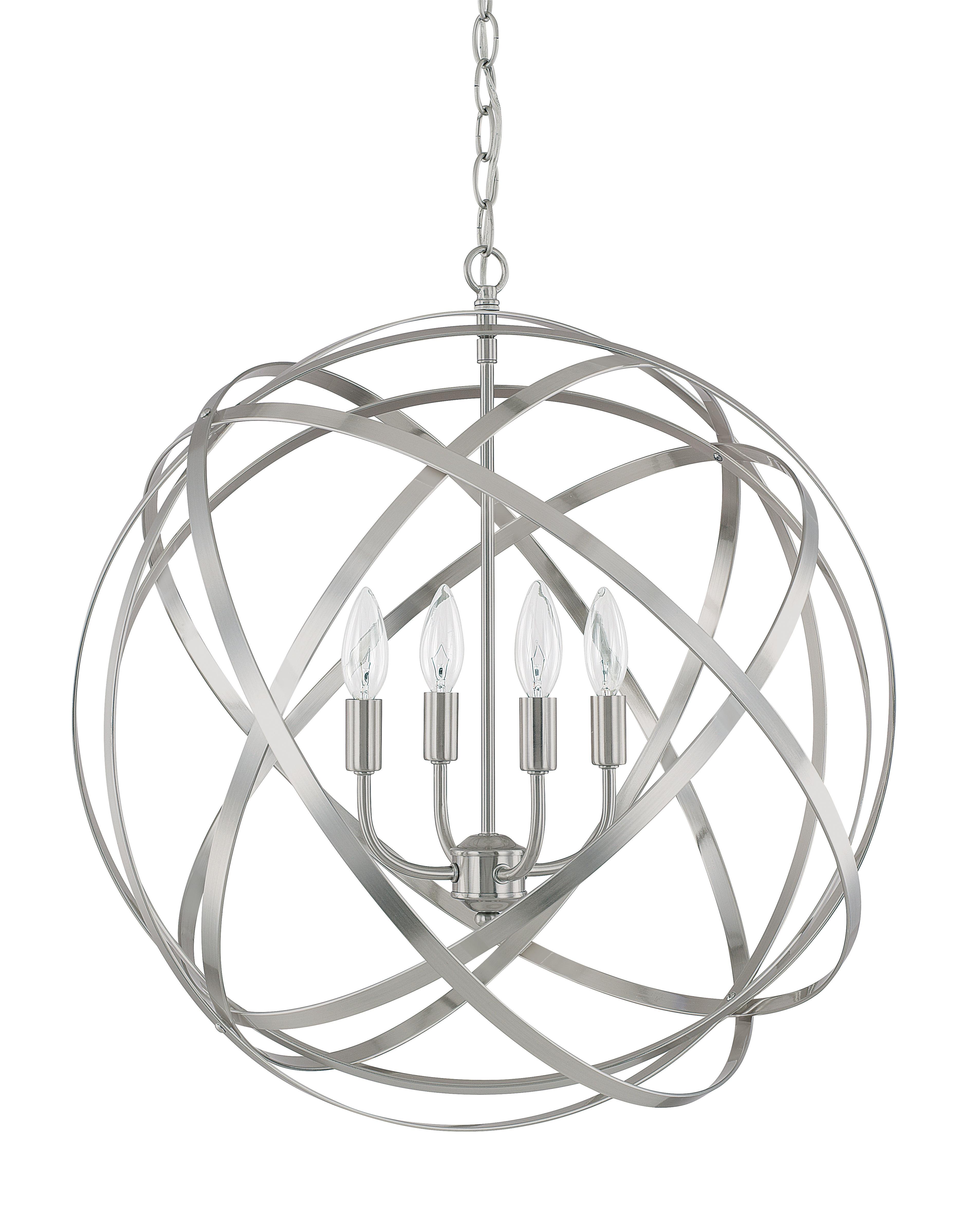 2019 Cavanagh 4 Light Geometric Chandeliers With Kierra 4 Light Unique / Statement Chandelier (View 3 of 25)