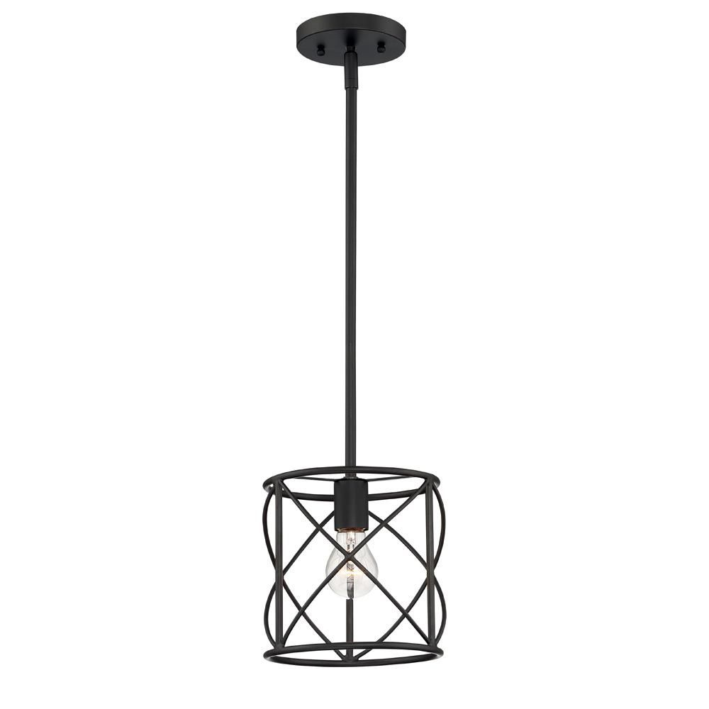 2019 Cordelia Lighting 1-Light Satin Bronze Ceiling Mounted pertaining to Poynter 1-Light Single Cylinder Pendants