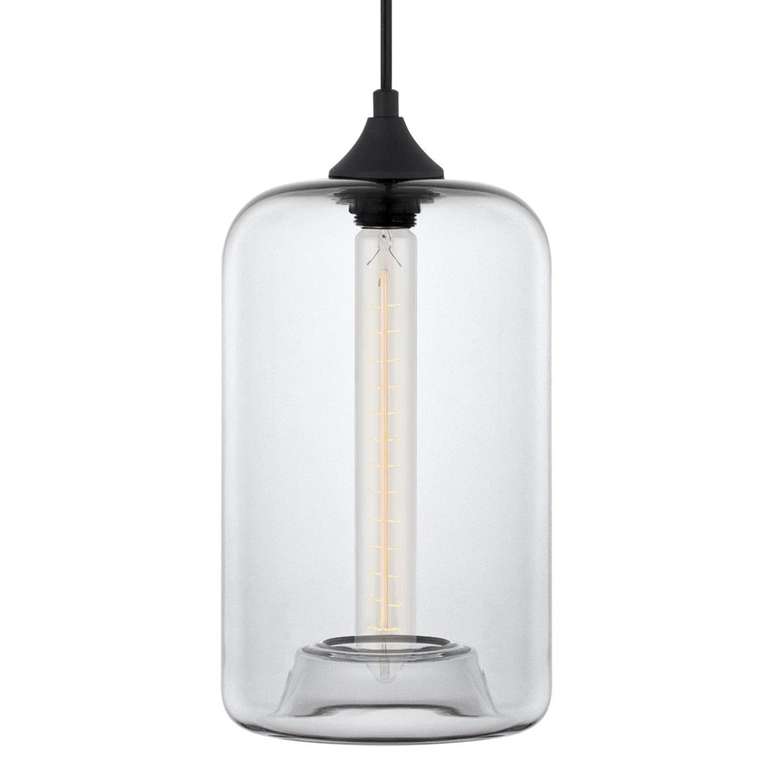 2019 Derek 1-Light Cylinder Pendant in Scruggs 1-Light Geometric Pendants