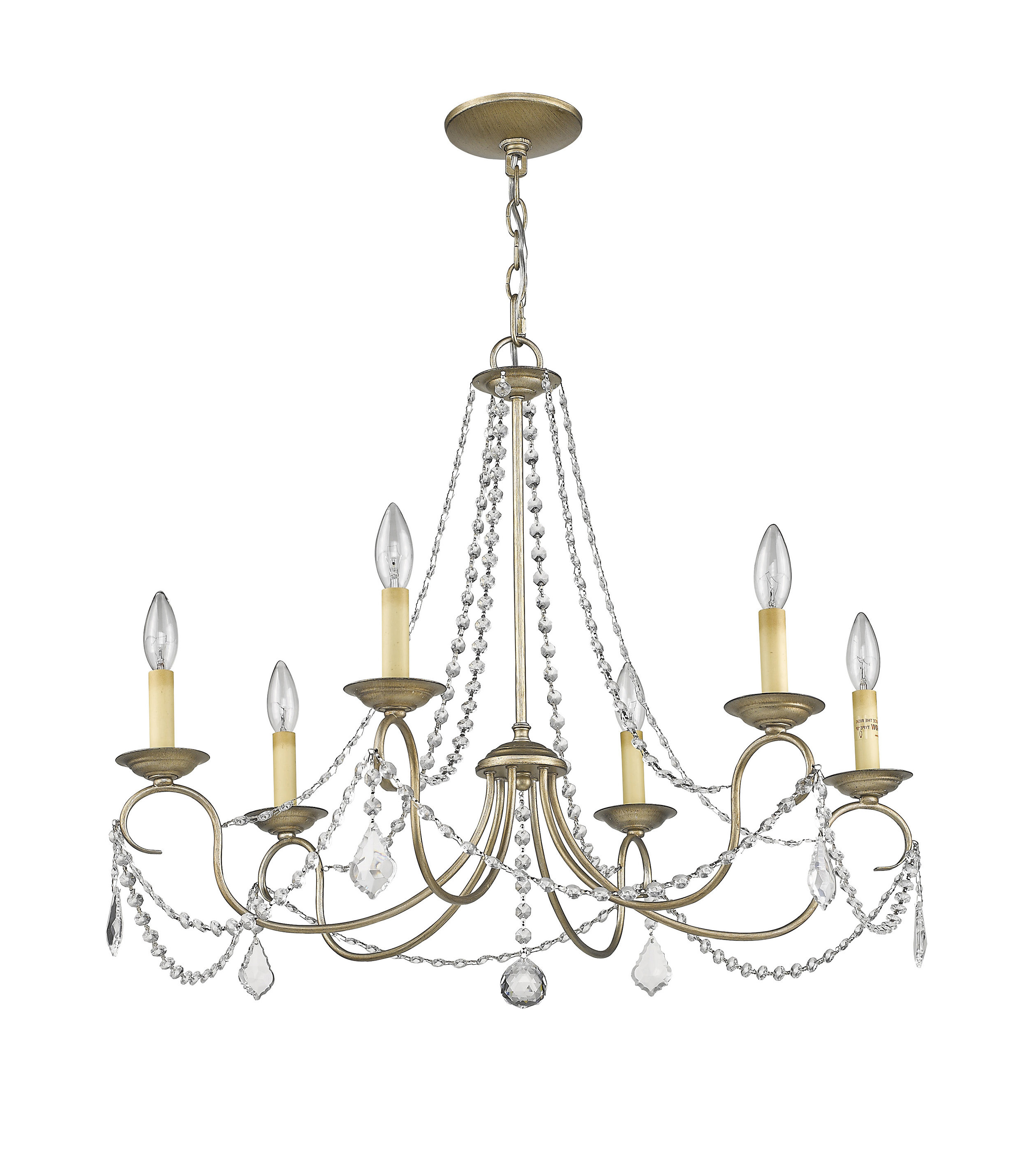 2019 Devana 6-Light Candle Style Chandelier with regard to Diaz 6-Light Candle Style Chandeliers