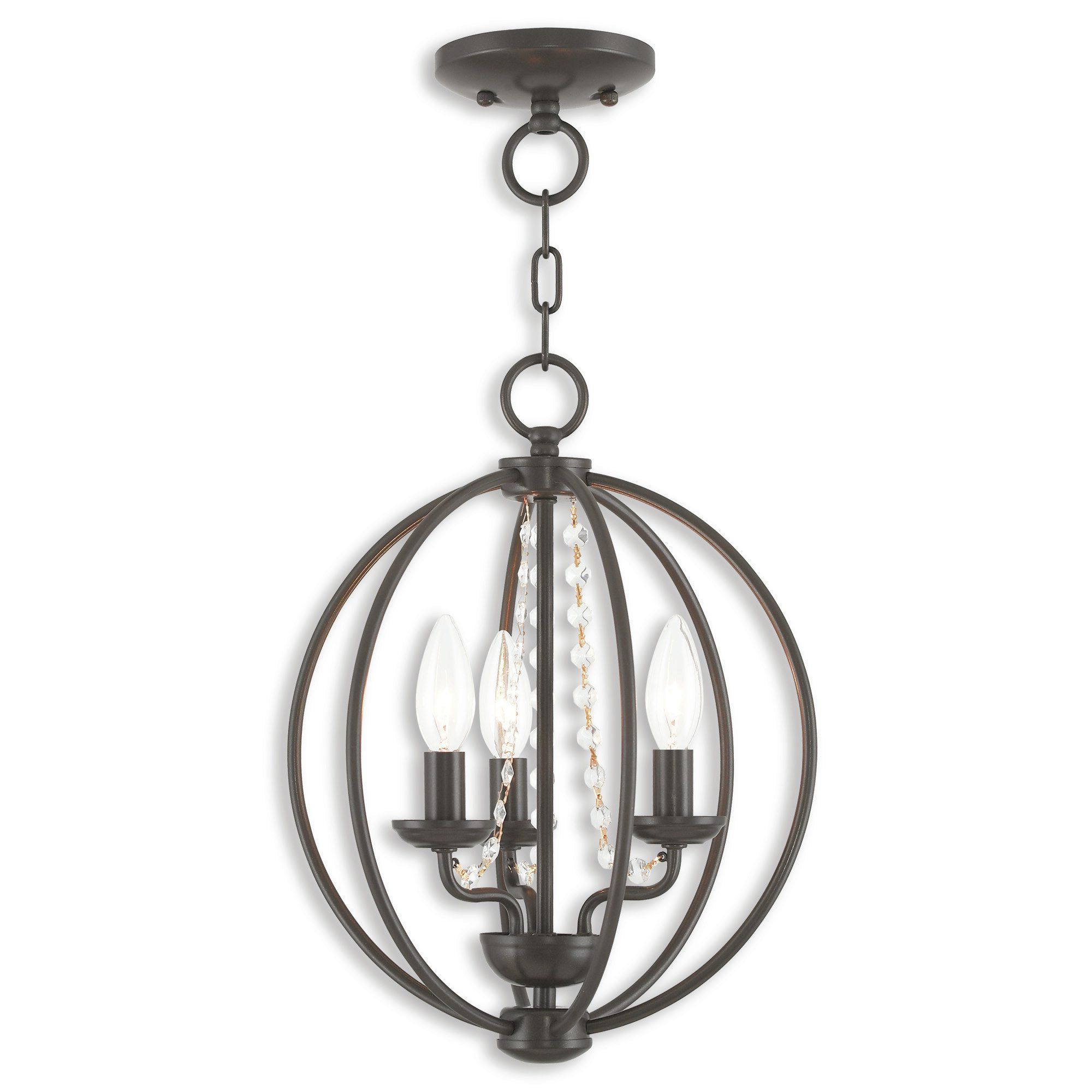 2019 Dirksen 3 Light Single Cylinder Chandeliers Pertaining To Artus 3 Light Globe Chandelier (View 4 of 25)