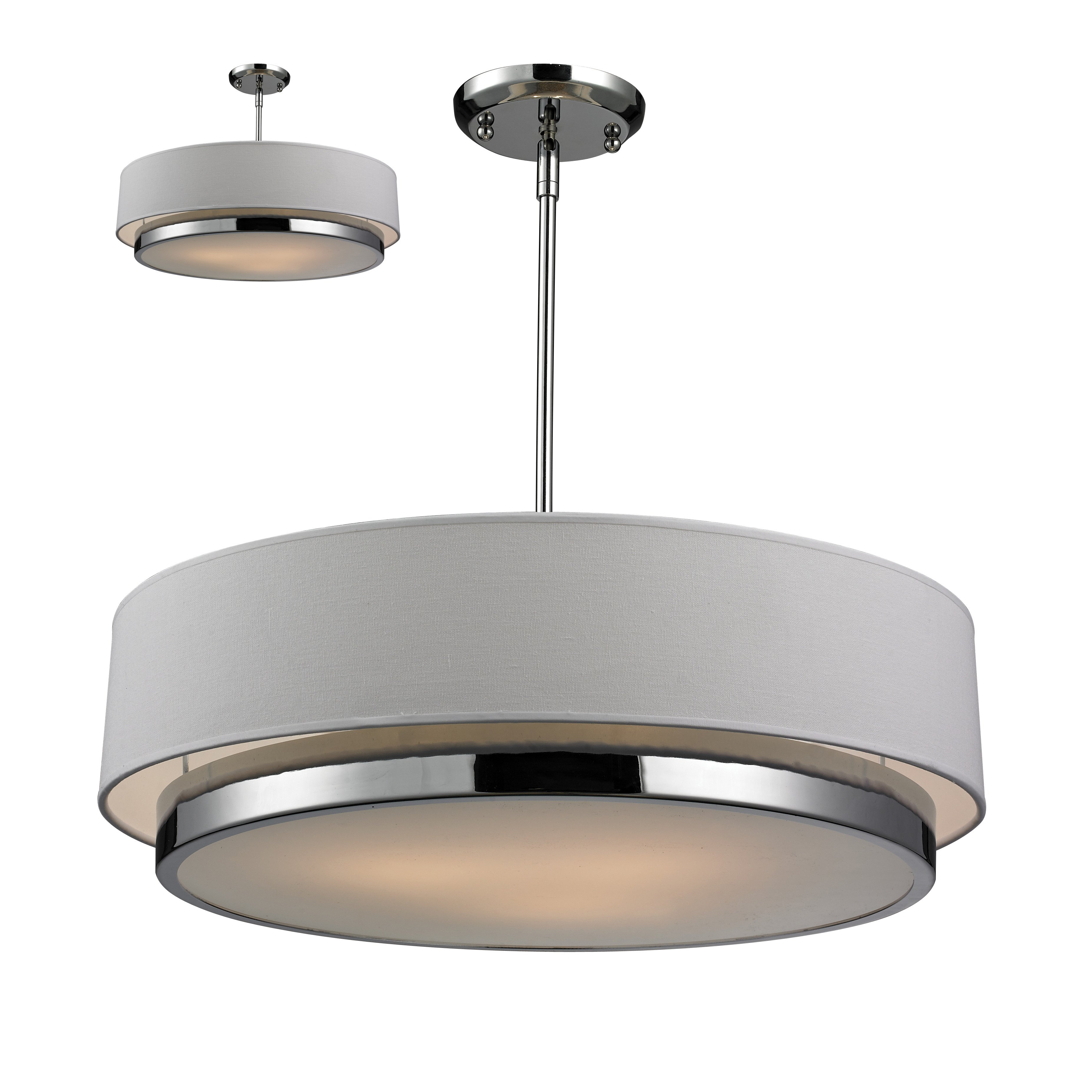 2019 Drum Pendant Lights In Burnished Silver Finish F2707 Hanging pertaining to Tadwick 3-Light Single Drum Chandeliers