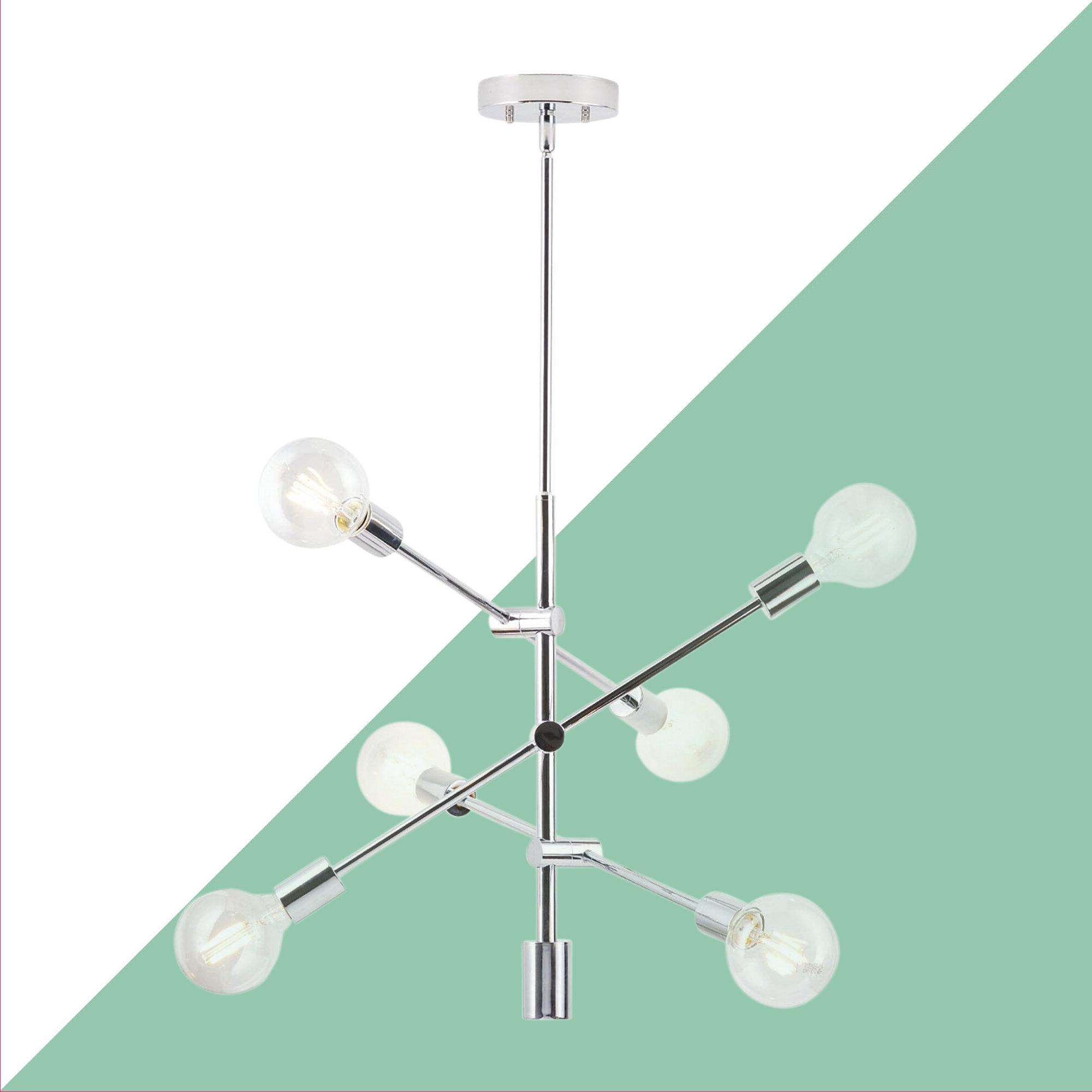 2019 Eladia 6-Light Sputnik Chandelier inside Eladia 6-Light Sputnik Chandeliers