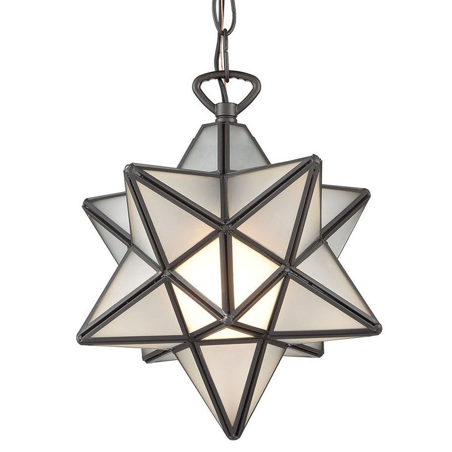"2019 Elk Home 1145-015 Moravian Star Single Light 9"" Wide Mini Pendant pertaining to 1-Light Single Star Pendants"