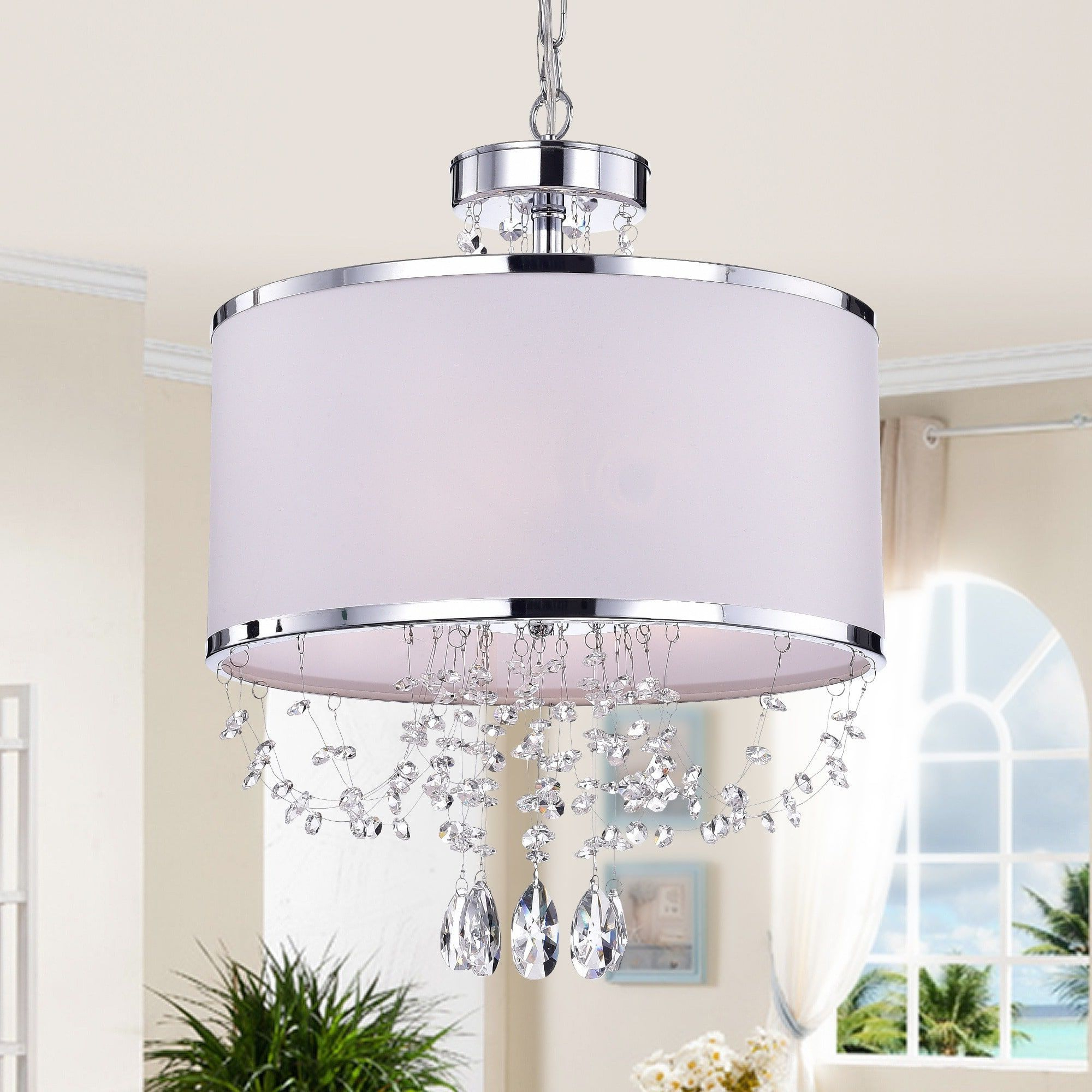 2019 Gisselle 4 Light Drum Chandeliers With Regard To Warehouse Of Tiffany 'hera' Shaded Crystal Detailed 4 Light (View 2 of 25)