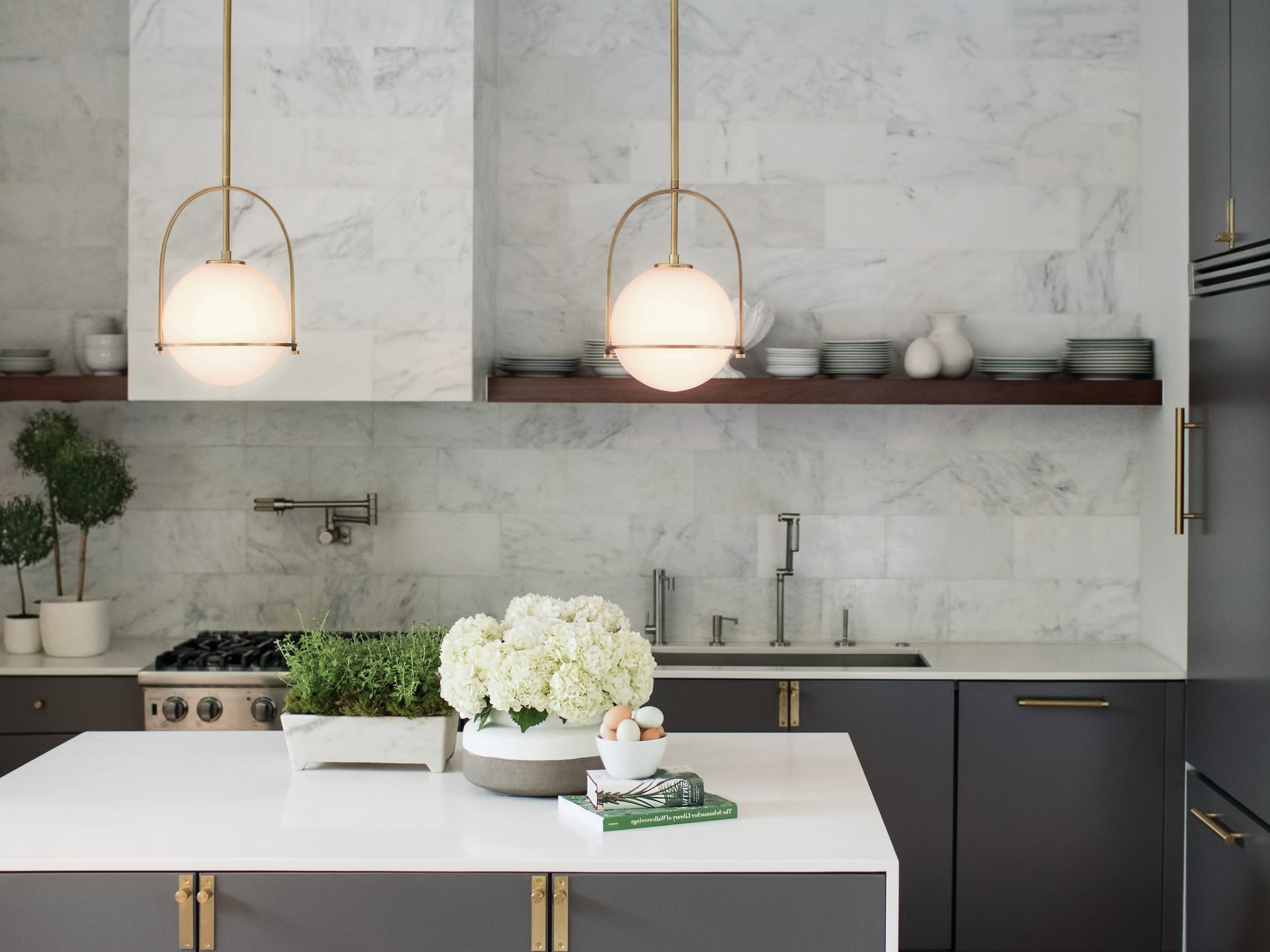 2019 Hinkley Lighting Somerset 1 Light Single Globe Pendant With Melora 1 Light Single Geometric Pendants (View 1 of 25)