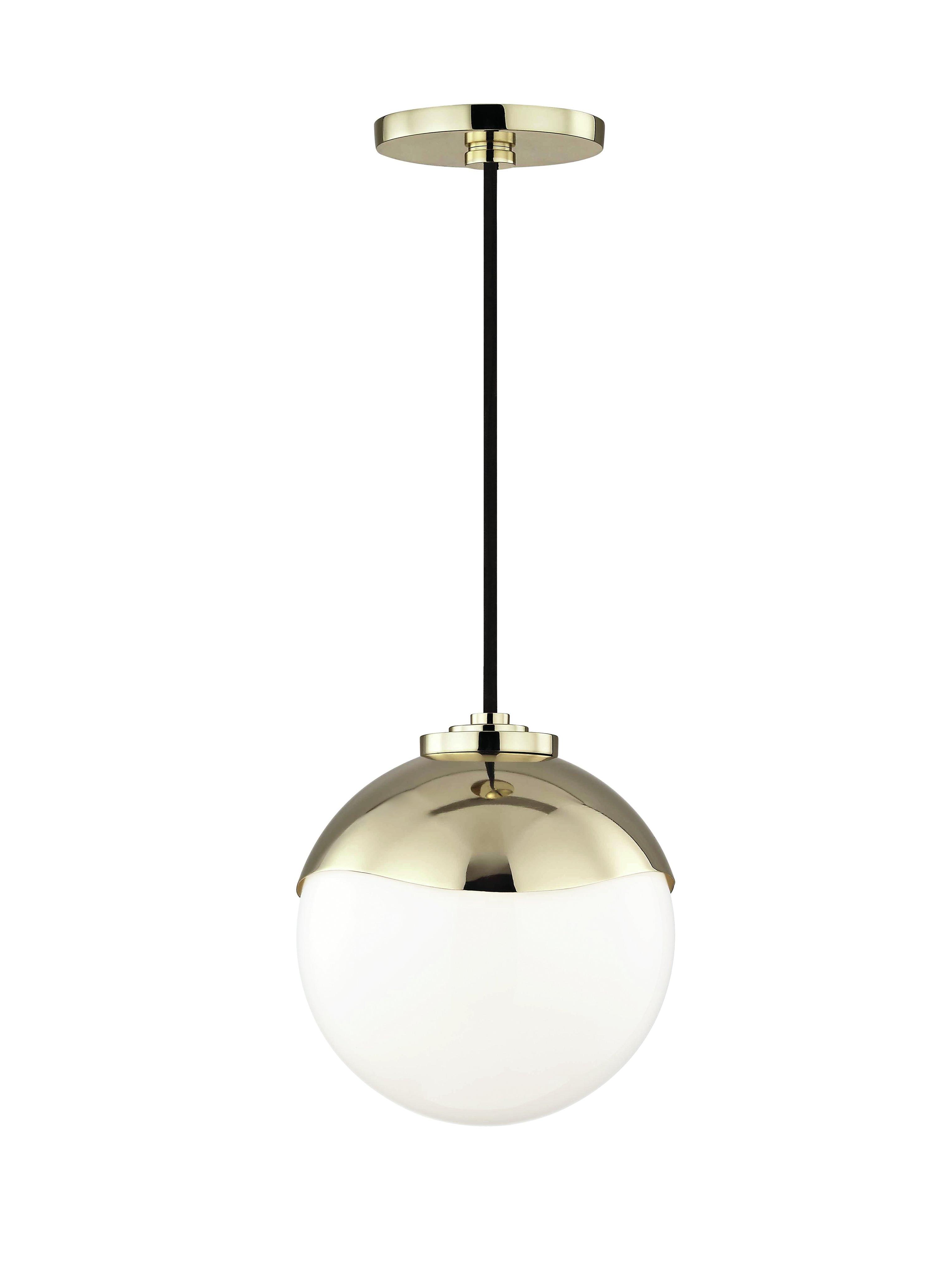 2019 Hunter 1-Light Globe Pendant pertaining to Bautista 1-Light Single Globe Pendants