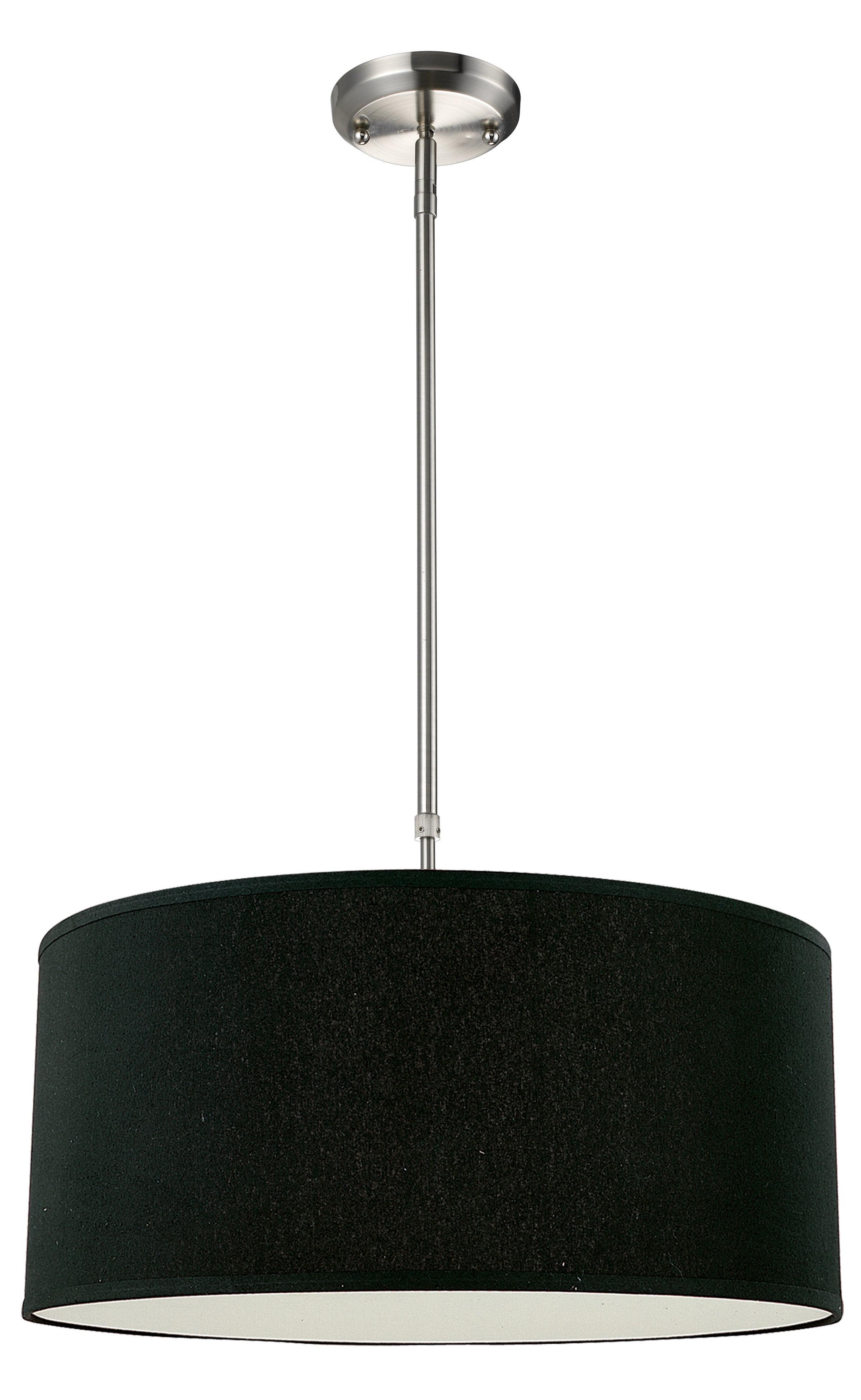 2019 Kasey 3-Light Single Drum Pendants inside Kasey 3-Light Drum Pendant