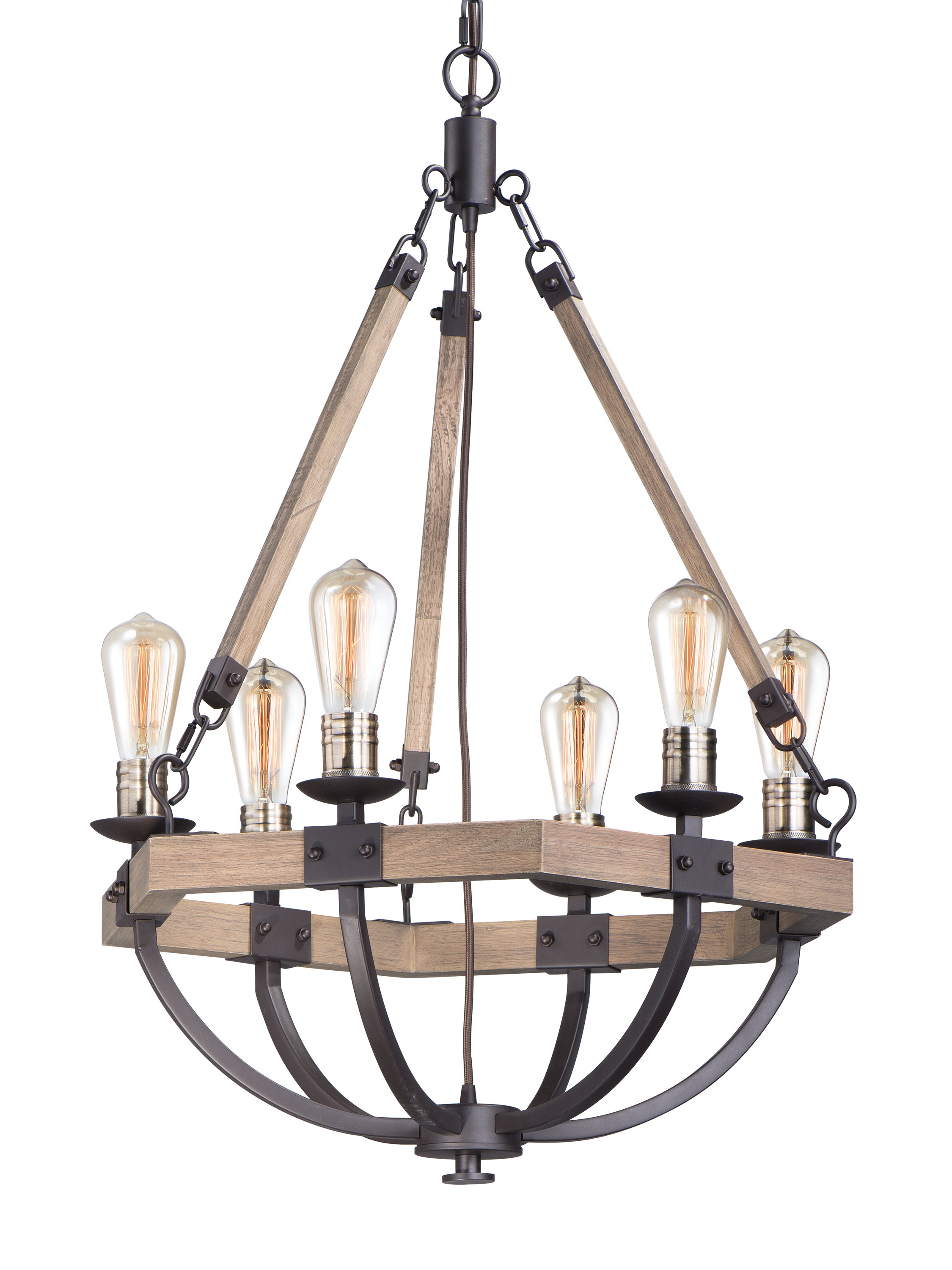 2019 Killion 6 Light Wagon Wheel Chandelier Intended For Sherri 6 Light Chandeliers (View 19 of 25)