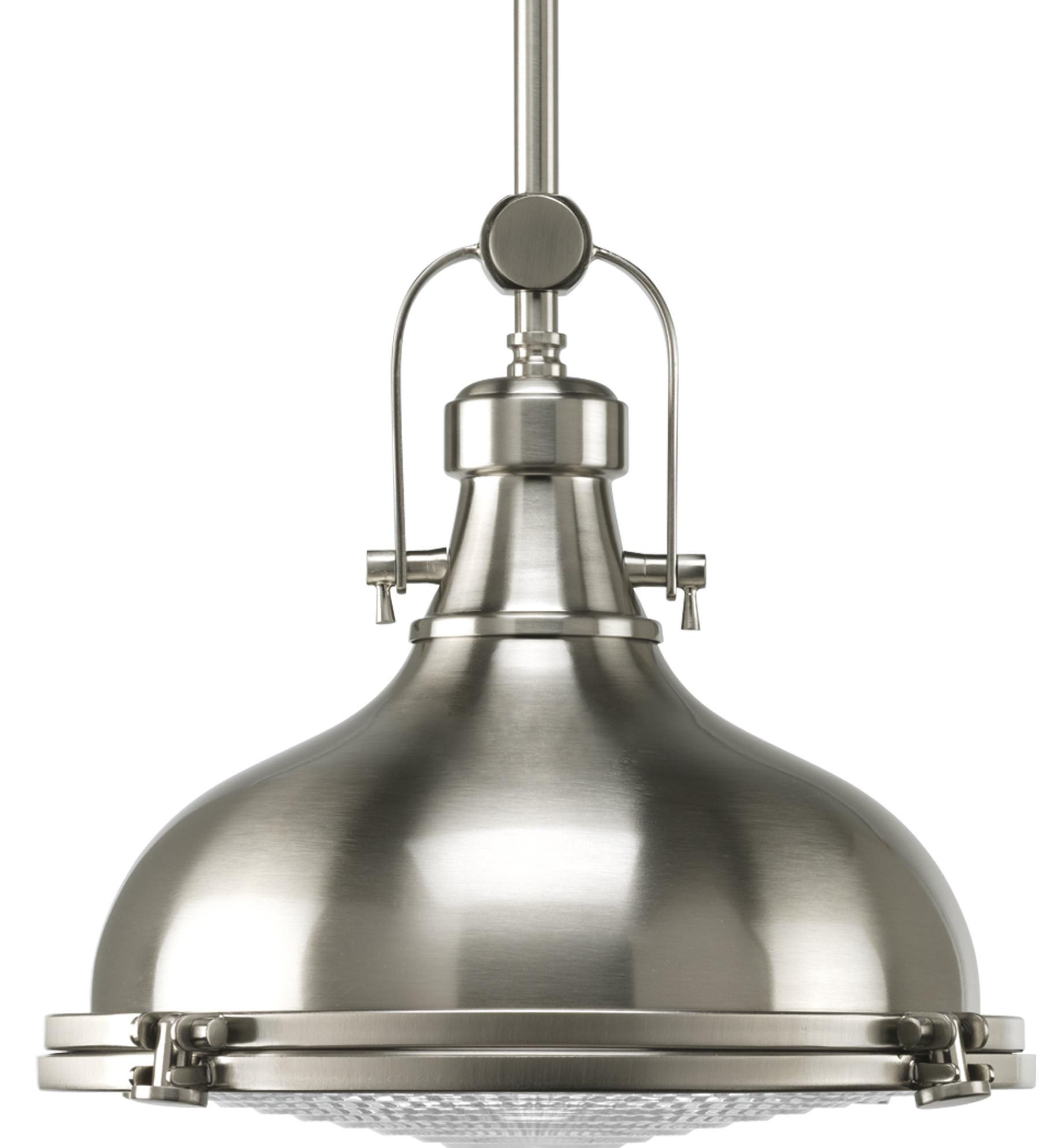 2019 Laurel Foundry Modern Farmhouse Freeda 1 Light Single Dome Pendant Pertaining To Granville 3 Light Single Dome Pendants (View 18 of 25)