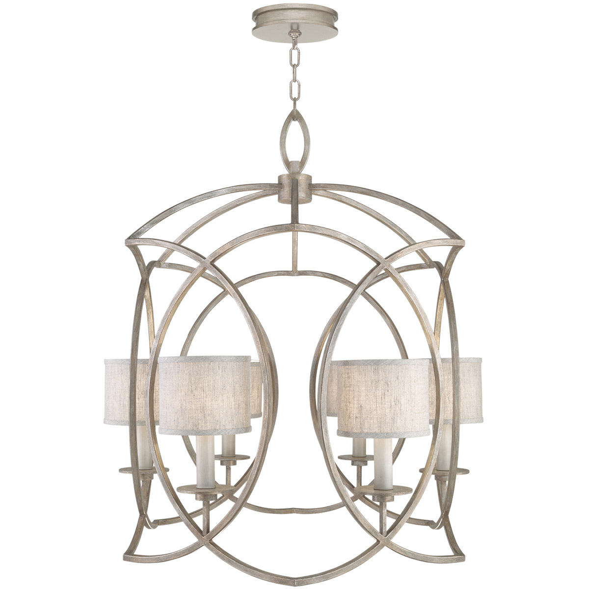 2019 Paladino 6-Light Chandeliers with regard to Fine Art Lamps 889840-21St Cienfuegos 6 Light 31 Inch Gray