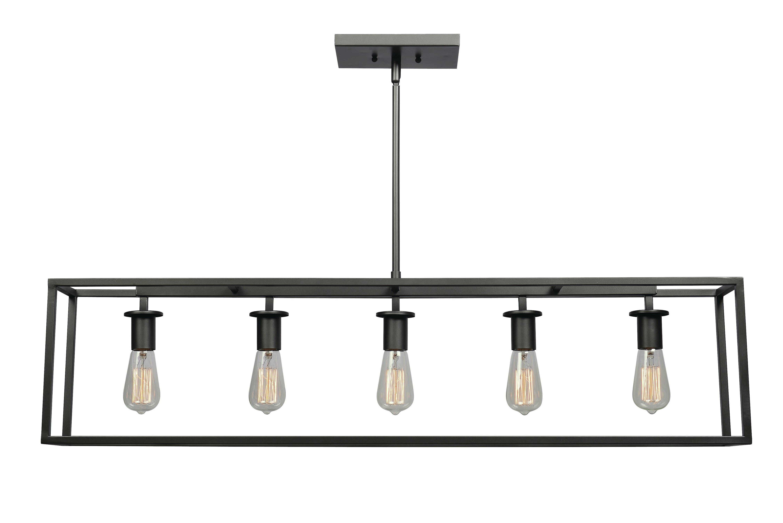 2019 Raeann 5 Light Kitchen Island Linear Pendant In Sousa 4 Light Kitchen Island Linear Pendants (View 1 of 25)