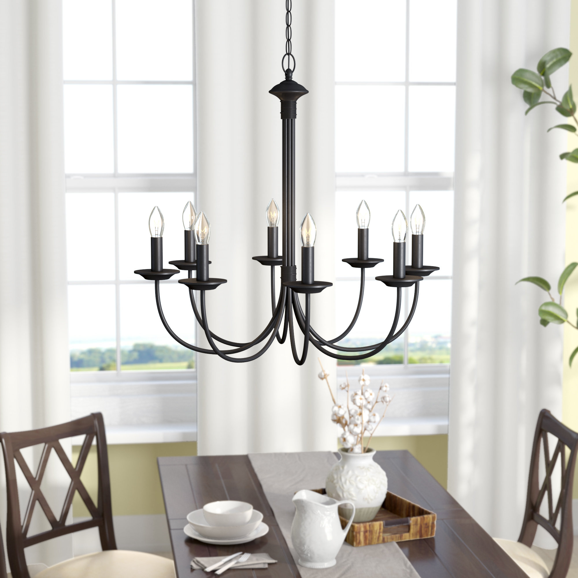 2019 Shaylee 8-Light Candle Style Chandelier regarding Shaylee 5-Light Candle Style Chandeliers