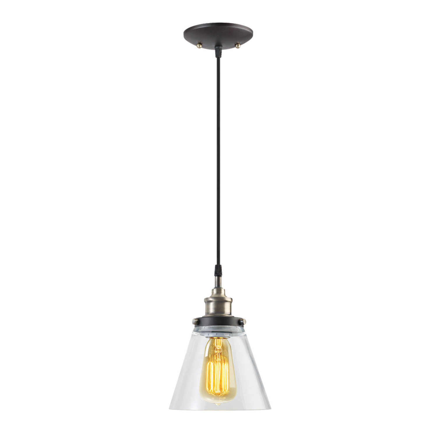 2020 Abelia 1 Light Single Cone Pendant Intended For Cinchring 1 Light Cone Pendants (View 1 of 25)