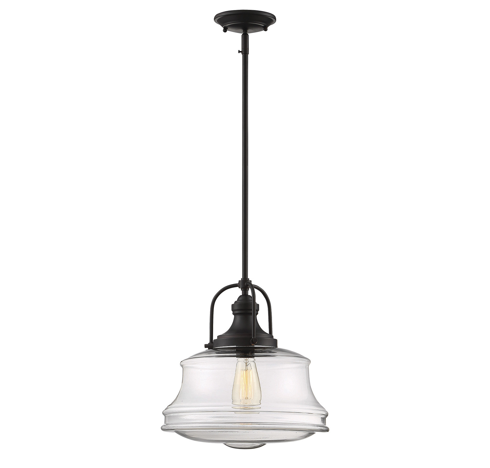 2020 Adriana Black 1 Light Single Dome Pendants Throughout Modern Farmhouse Pendant Lighting You'll Love In  (View 1 of 25)