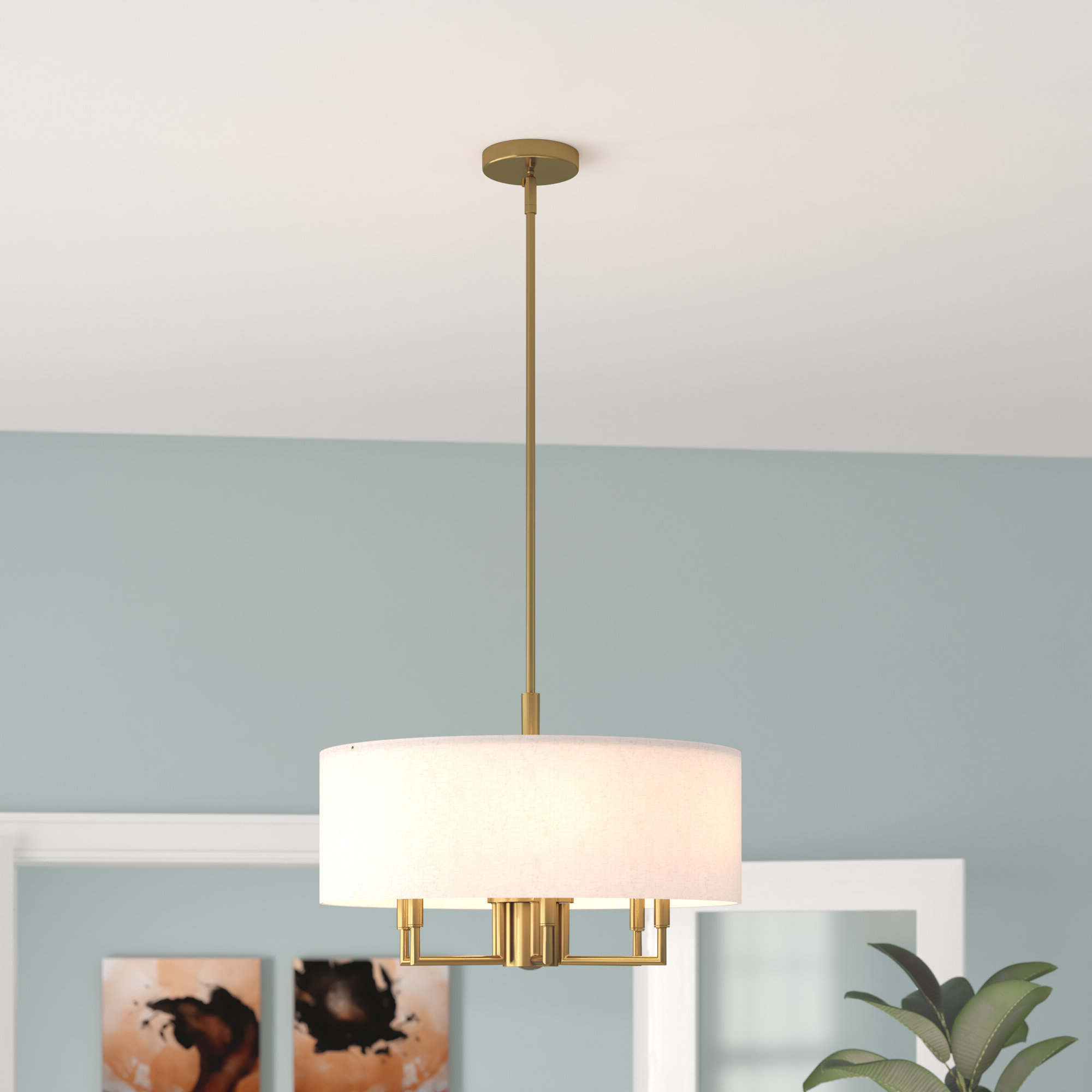 2020 Alina 5 Light Drum Chandeliers Throughout Ivy Bronx Alina 6 Light Drum Chandelier & Reviews (View 11 of 25)