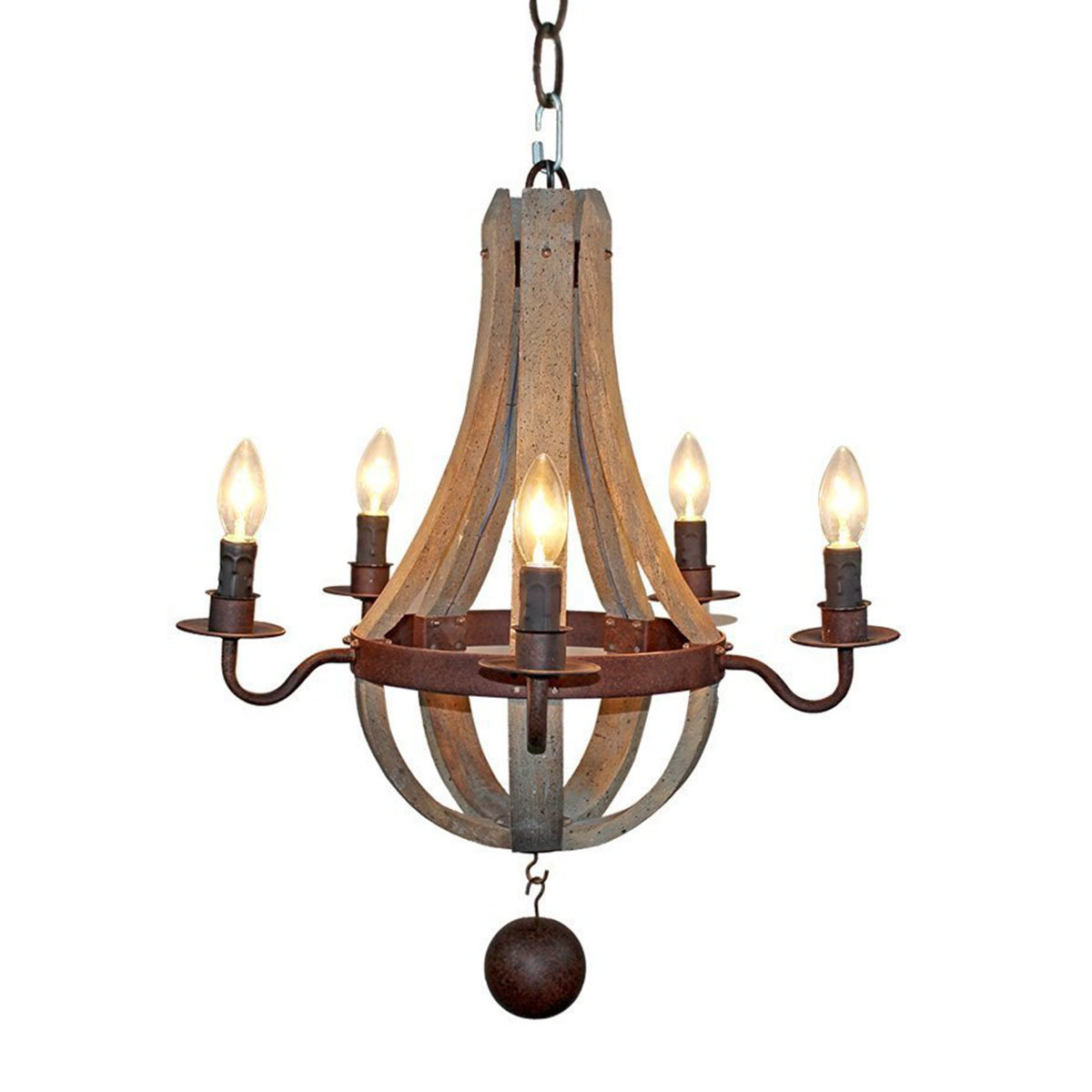 2020 Amata Flask Shape 5-Light Empire Chandelier with Kenna 5-Light Empire Chandeliers