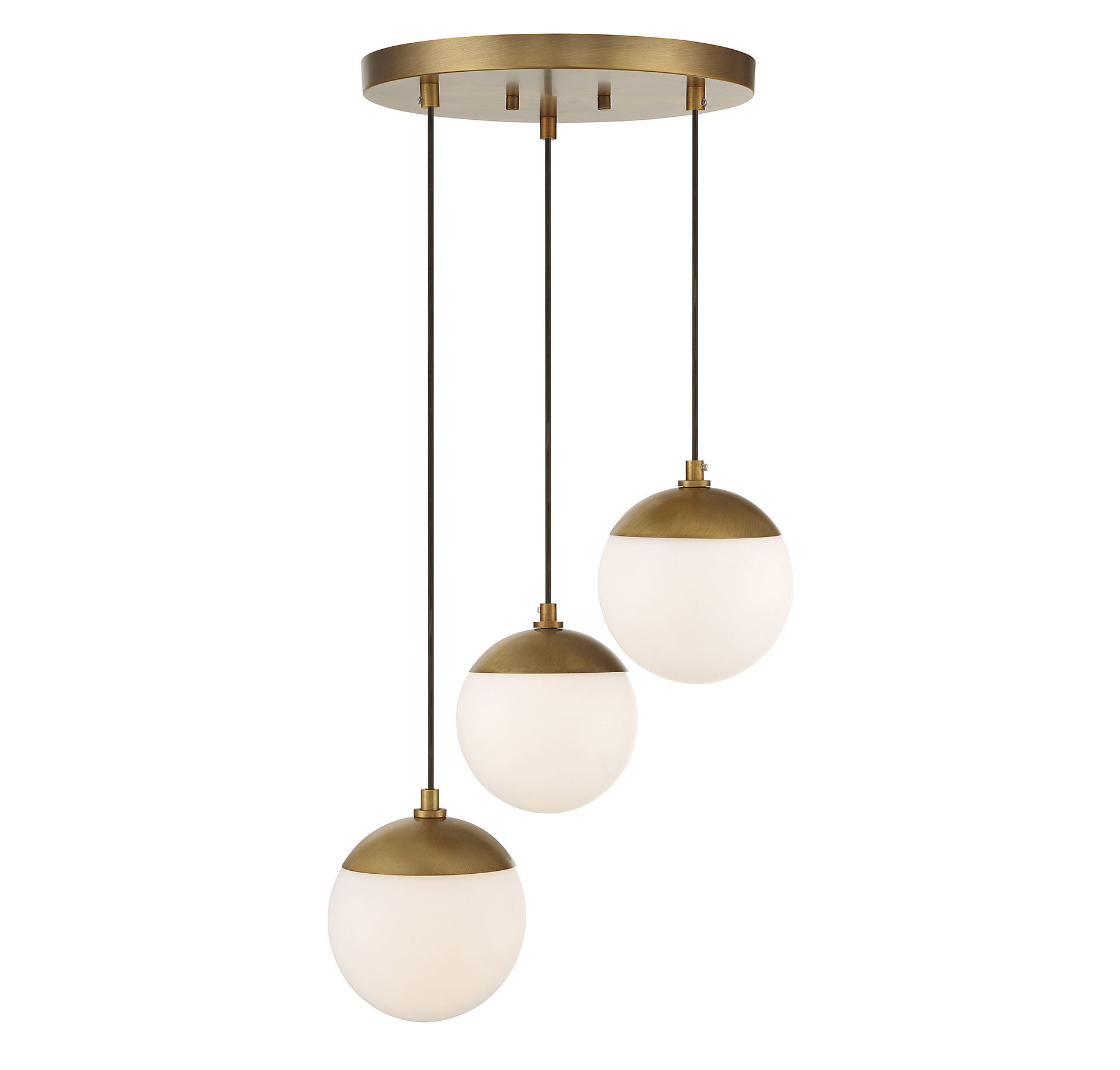 2020 Bautista 1 Light Single Globe Pendants Regarding Kara 3 Light Cluster Globe Pendant (View 3 of 25)