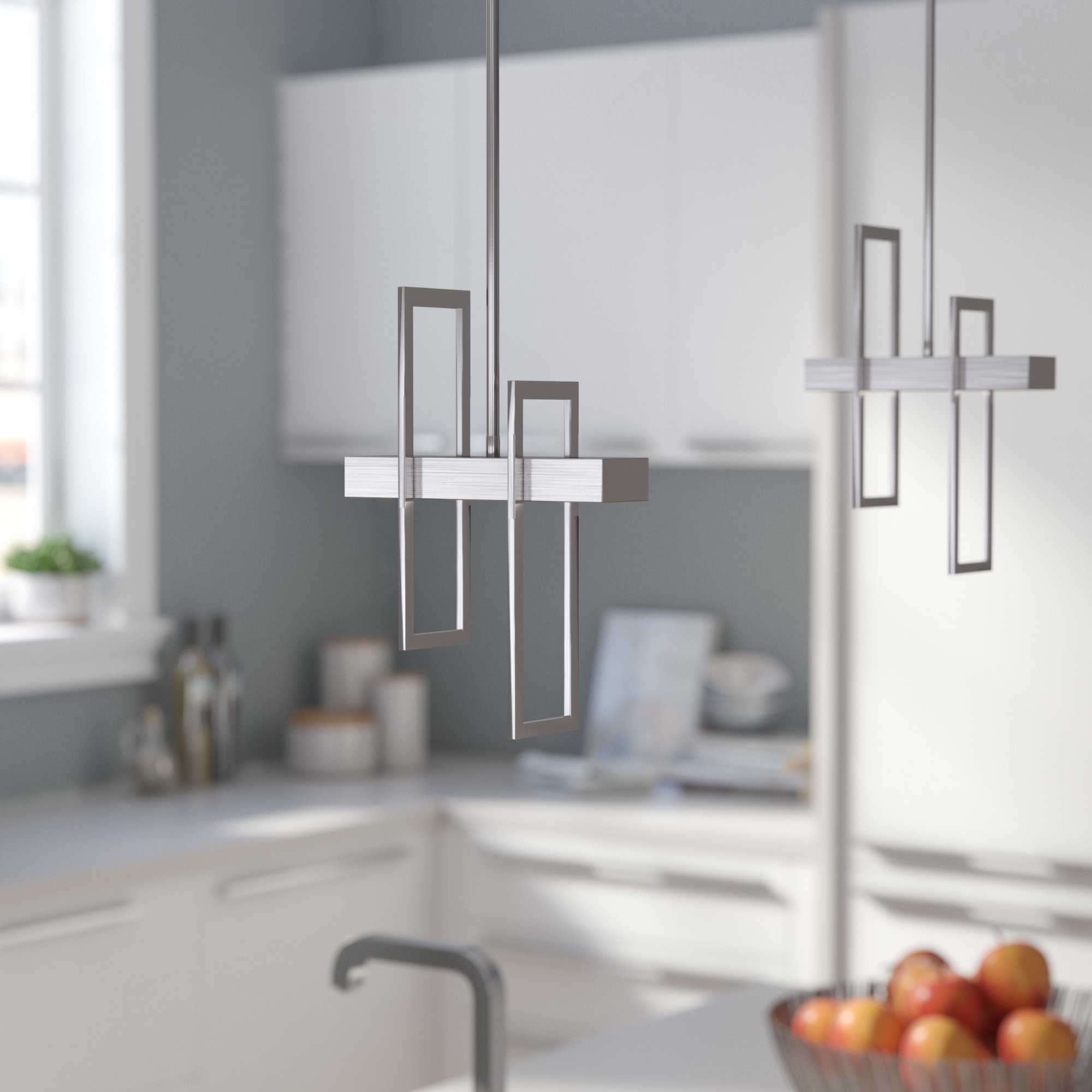 Featured Photo of Callington 1 Light Led Single Geometric Pendants