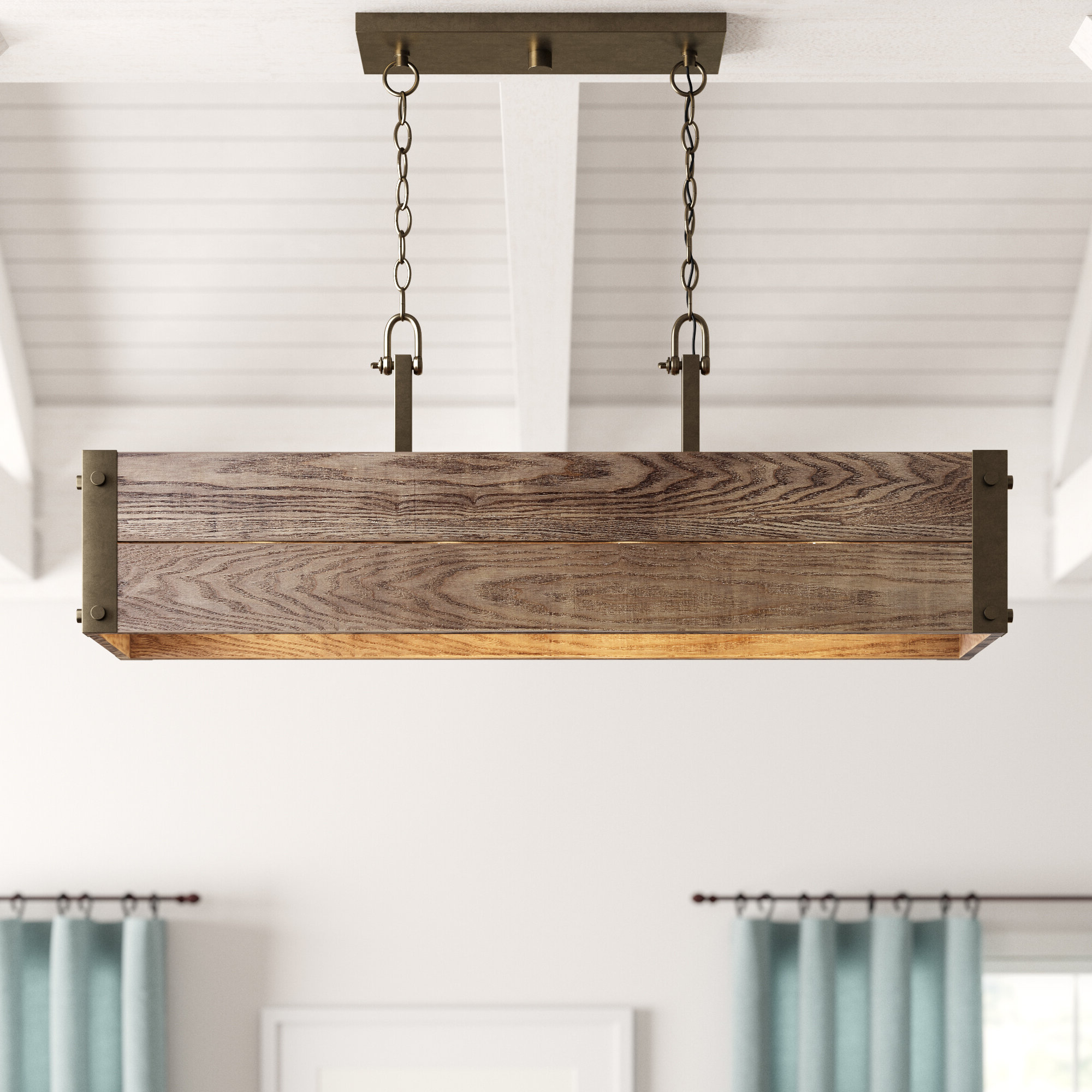 2020 Cathey 4 Light Kitchen Island Linear Pendant In Cinchring 4 Light Kitchen Island Linear Pendants (View 1 of 25)