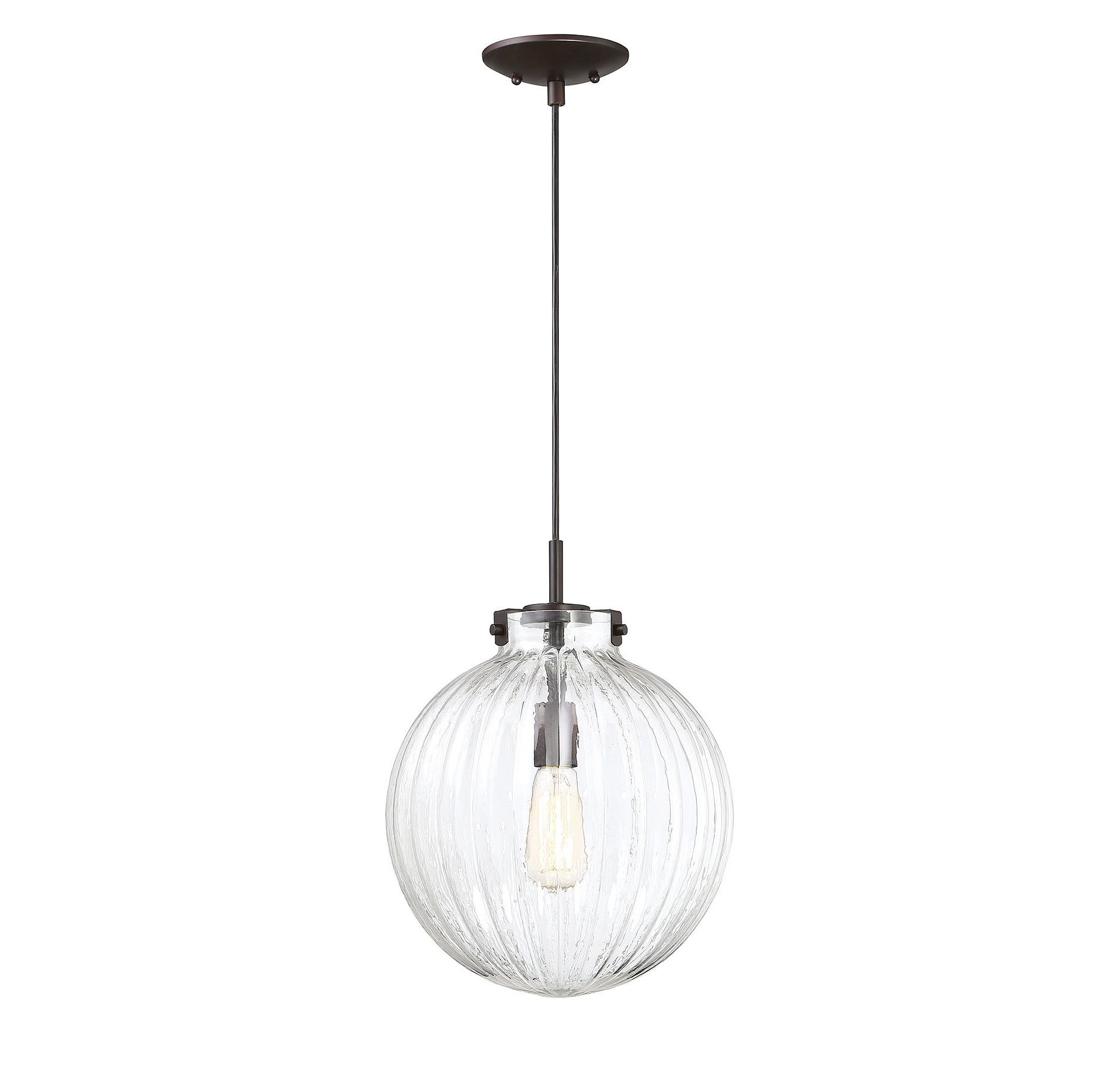 2020 Cayden 1 Light Single Globe Pendants Regarding Nevels 1 Light Single Globe Pendant (View 3 of 25)