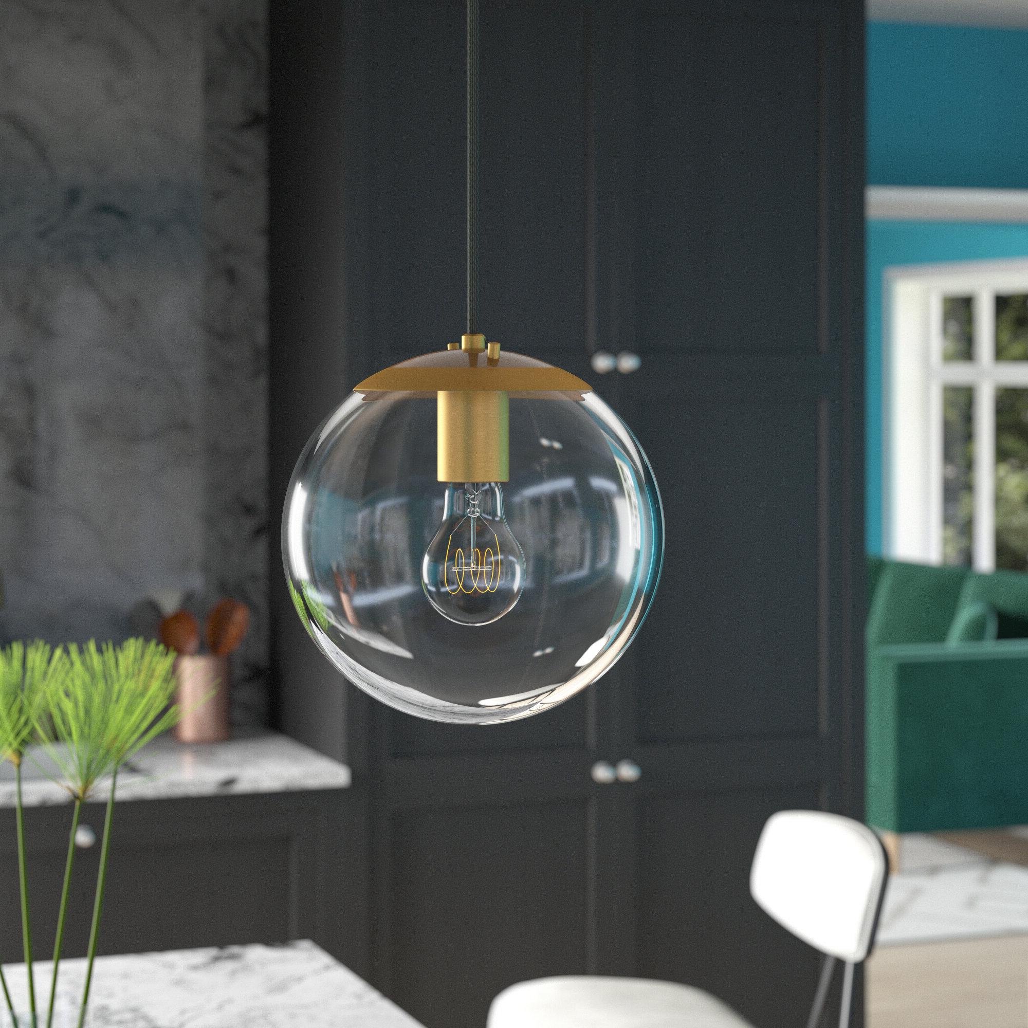 2020 Cayden 1 Light Single Globe Pendants Regarding Wysocki 1 Light Single Globe Pendant (View 23 of 25)