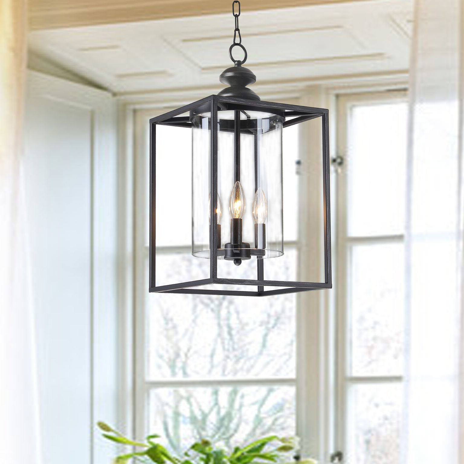 2020 Finnick 3-Light Lantern Pendants regarding Chesson 3-Light Square/rectangle Pendant