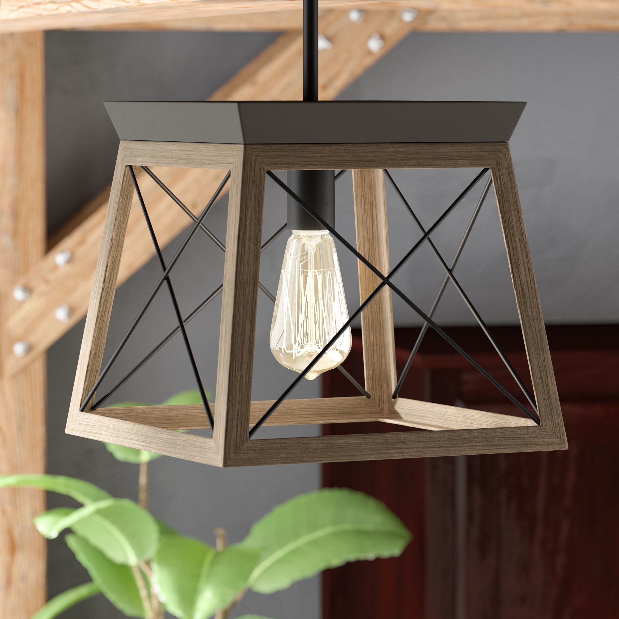 "2020 Foyer Mini (Less Than 10"" Wide) Pendant Lighting You'll Love Inside Louanne 1 Light Lantern Geometric Pendants (View 21 of 25)"