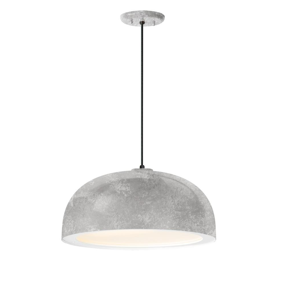 2020 Freeda 1-Light Single Dome Pendants intended for Troy Rlm Dome 16 In. Shade 1-Light Galvanized Finish Pendant