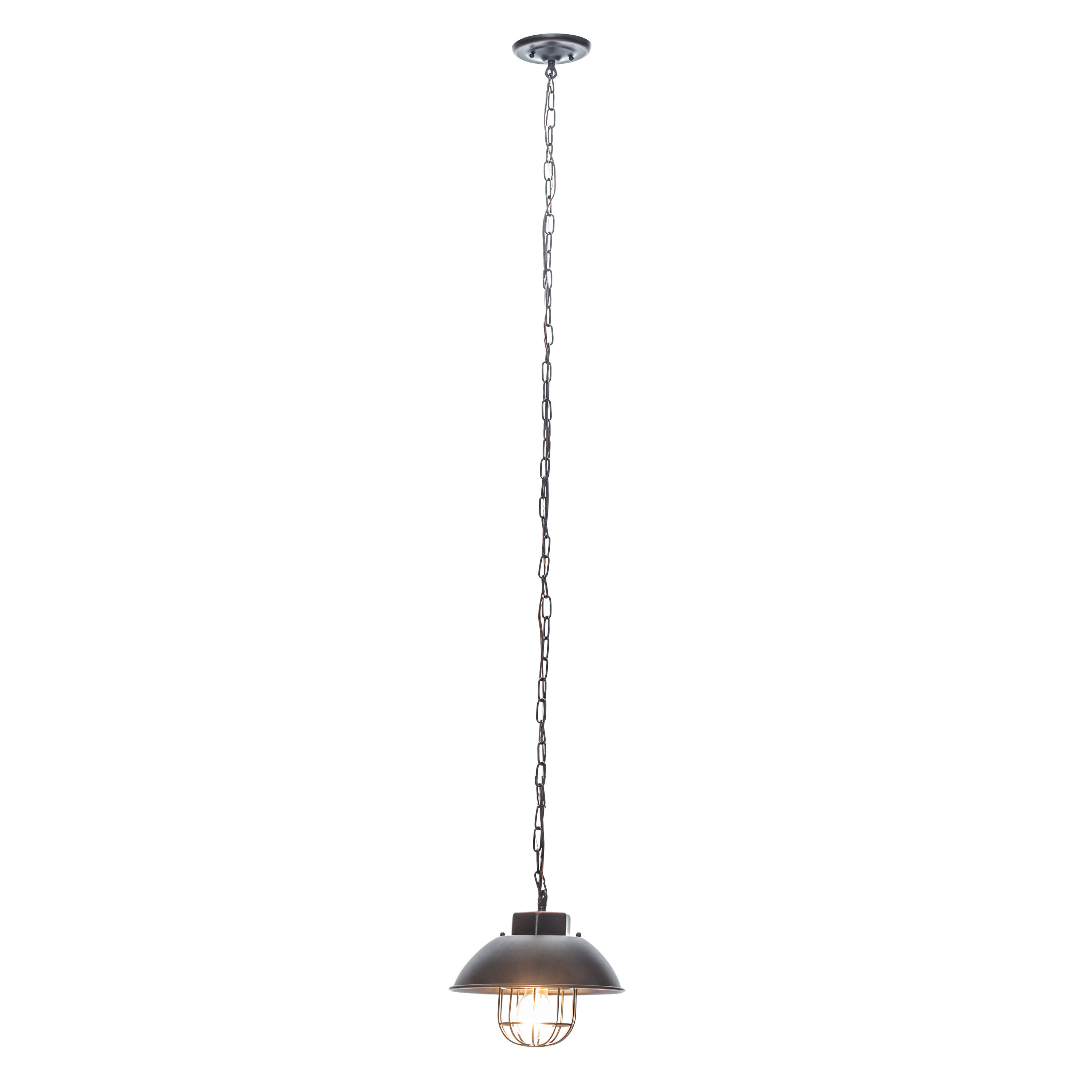 2020 Globe Electric 1 Light Oil Rubbed Bronze Vintage Edison Over Bulb Cage  Pendant, 64834 With Regard To Vintage Edison 1 Light Bowl Pendants (View 15 of 25)