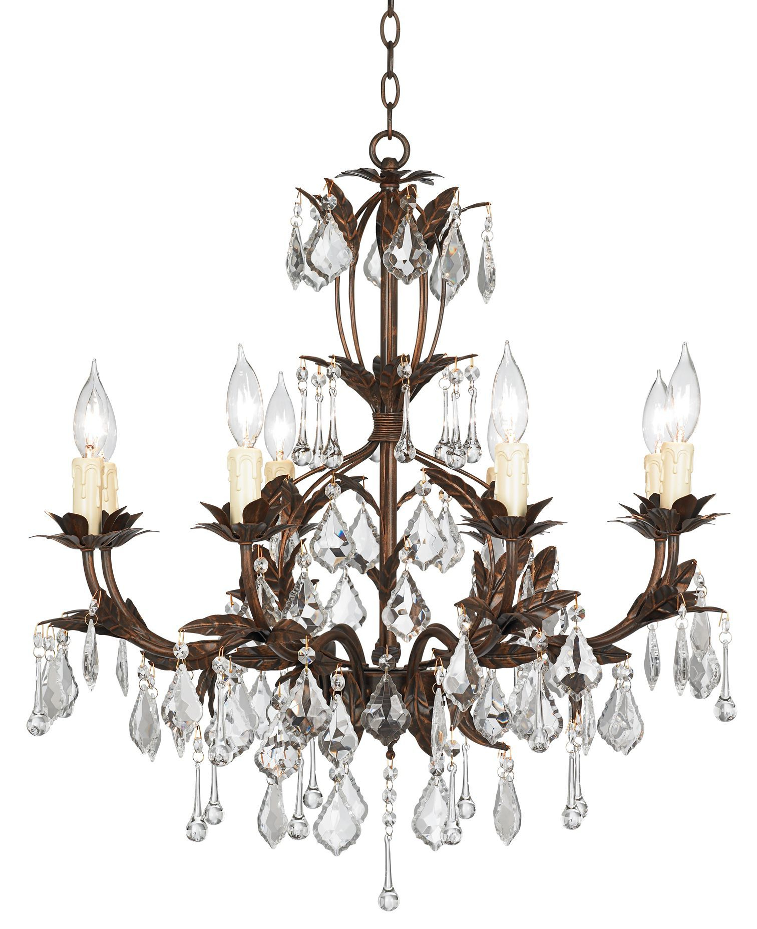"2020 Hesse 5 Light Candle-Style Chandeliers inside Kathy Ireland Venezia Bronze 8-Light 26"" Wide Chandelier"