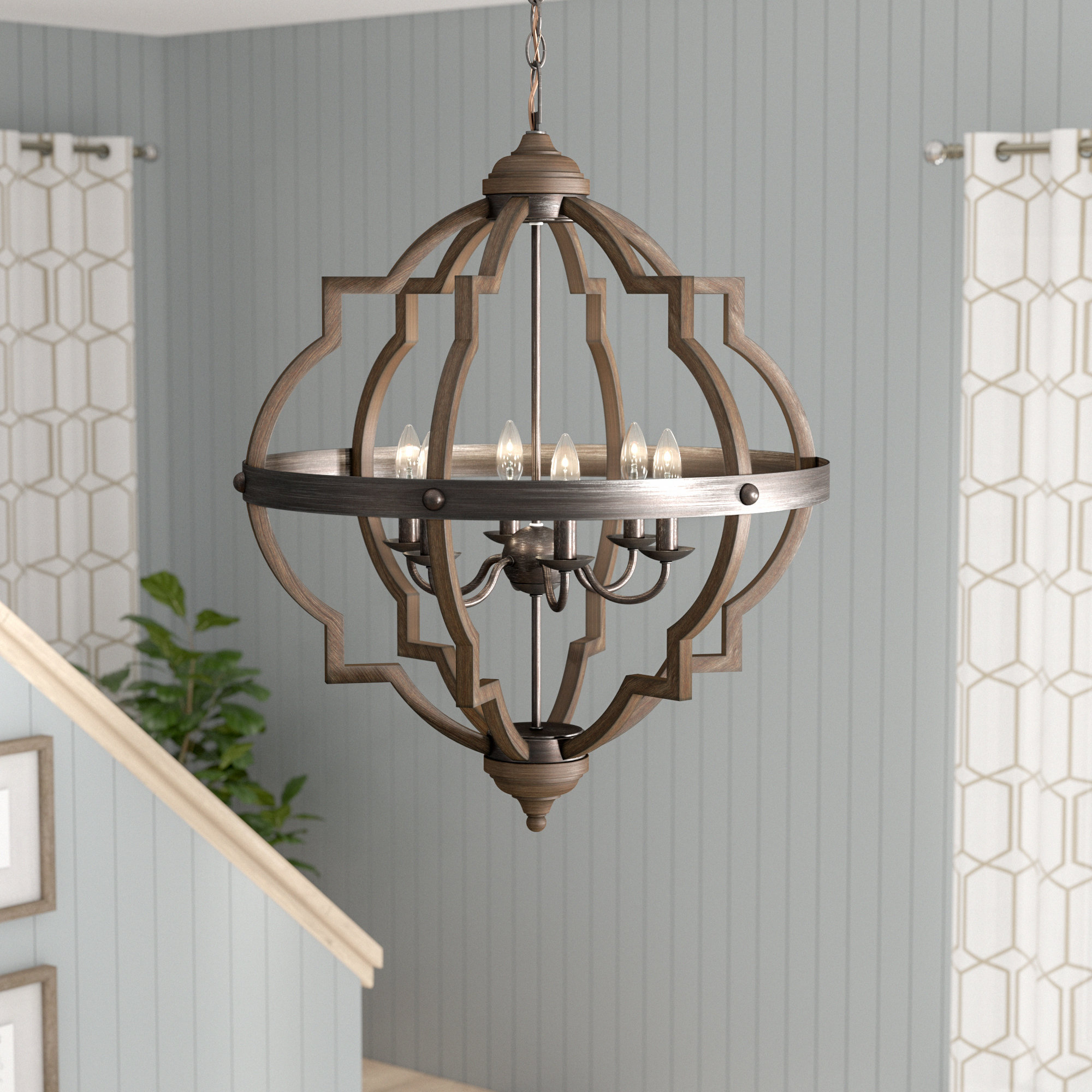 2020 Kaycee 4-Light Geometric Chandeliers intended for Bennington 6-Light Candle Style Chandelier