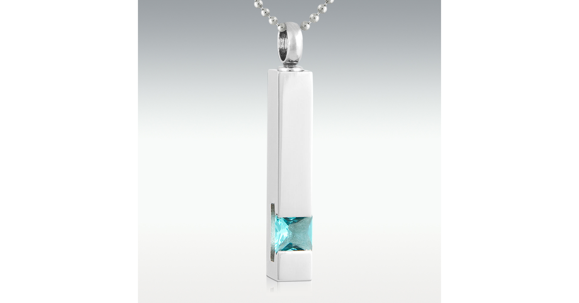 2020 Leading Light Pillar Topaz Stainless Steel Cremation Jewelry (Pm13340) intended for 3-Light Single Urn Pendants