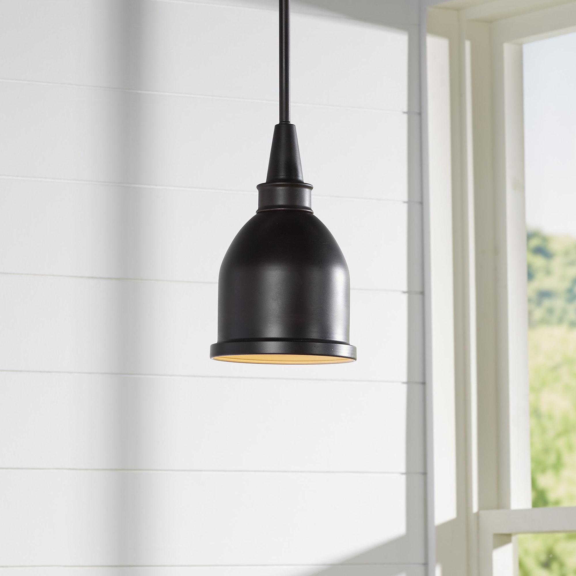 2020 Manston 1 Light Single Bell Pendant In Fresno Dome 1 Light Bell Pendants (View 14 of 25)