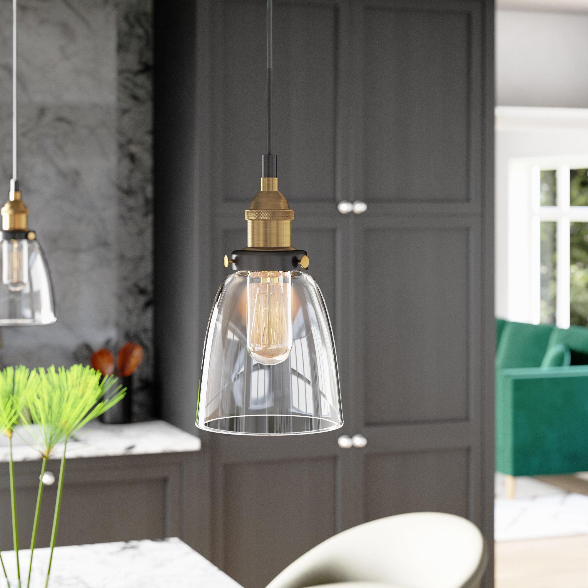 2020 Mercury Row Bundaberg 1 Light Single Bell Pendant & Reviews Throughout Sue 1 Light Single Jar Pendants (View 22 of 25)