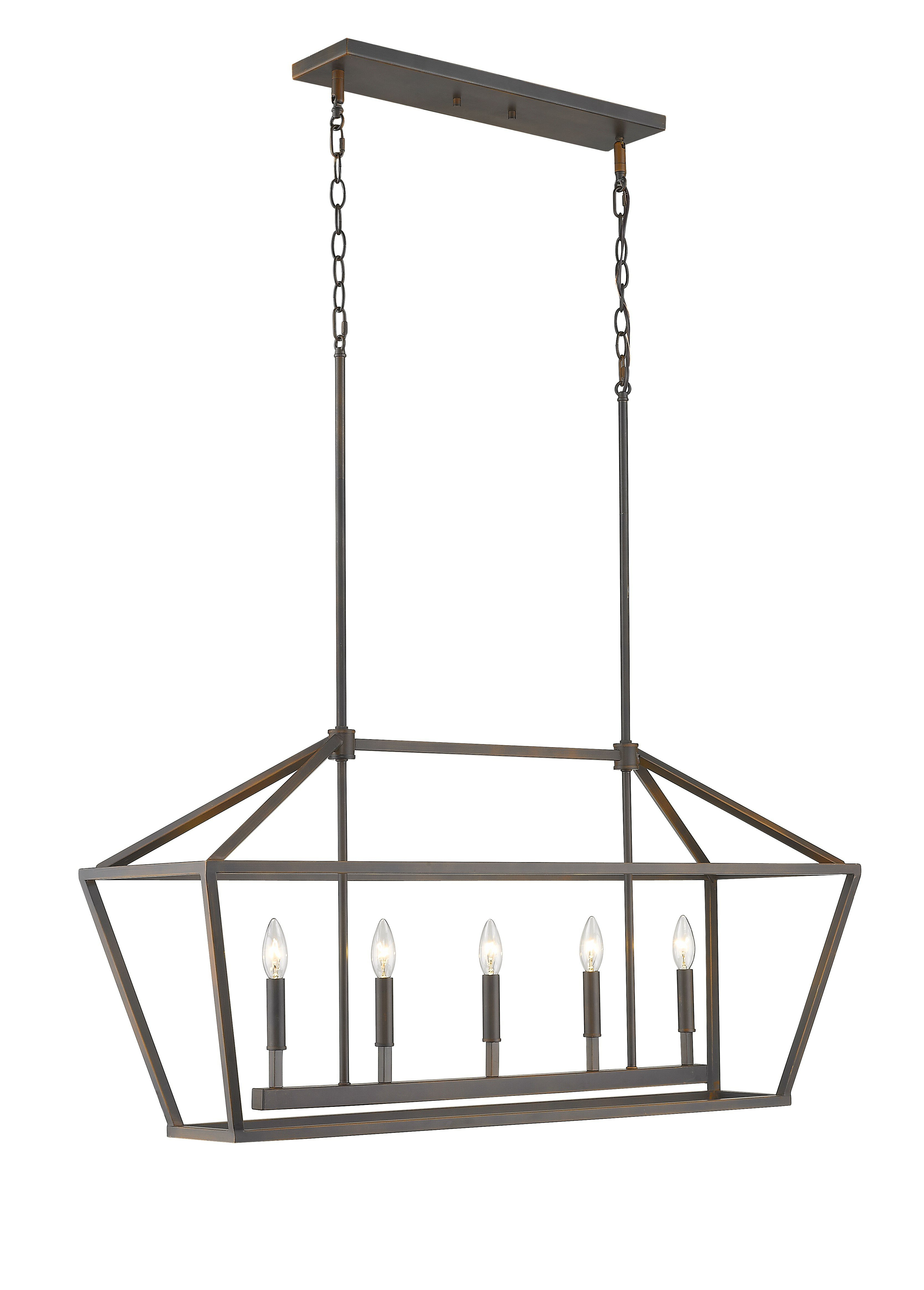 2020 Odie 8 Light Kitchen Island Square / Rectangle Pendants With Freemont 5 Light Kitchen Island Linear Chandelier (View 14 of 25)