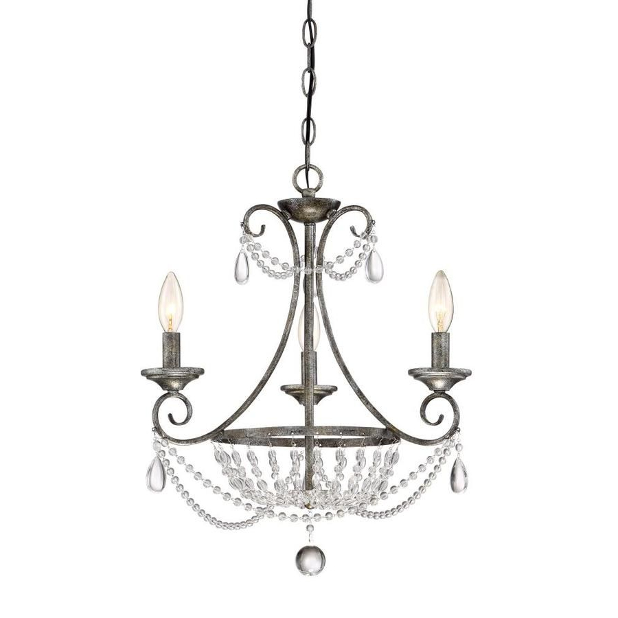 2020 Oriana 4 Light Single Geometric Chandeliers Intended For Quoizel Chantal  (View 2 of 25)