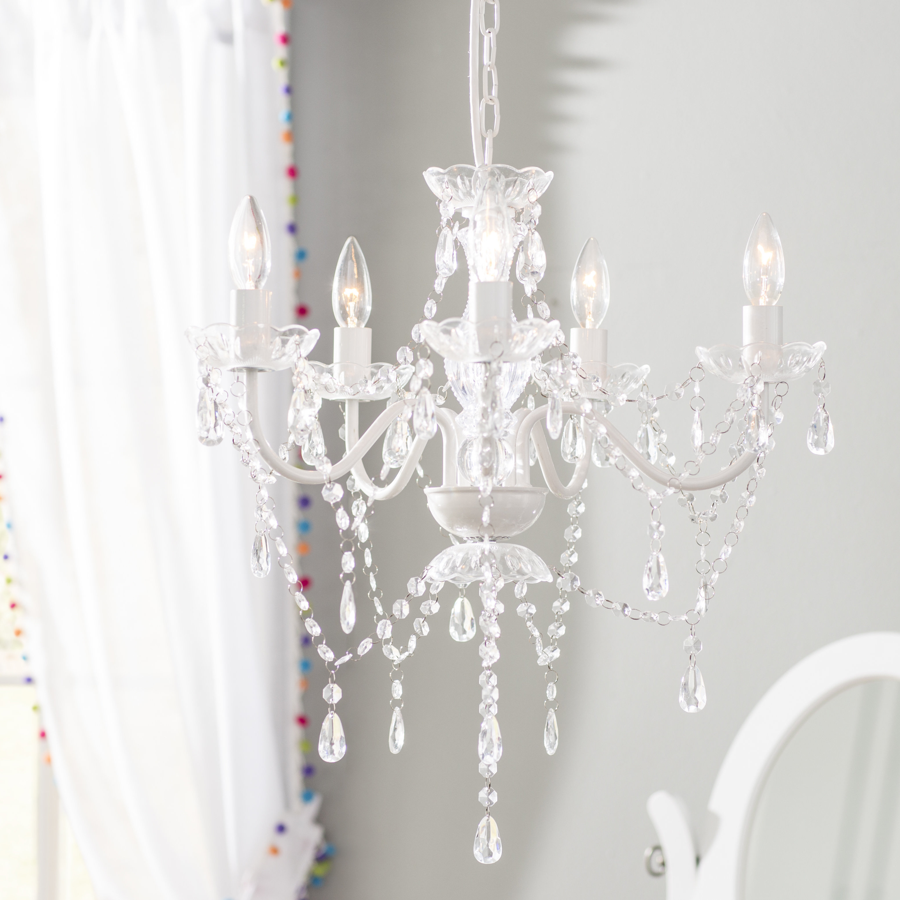 2020 Senoia 5-Light Candle Style Chandelier with Blanchette 5-Light Candle Style Chandeliers
