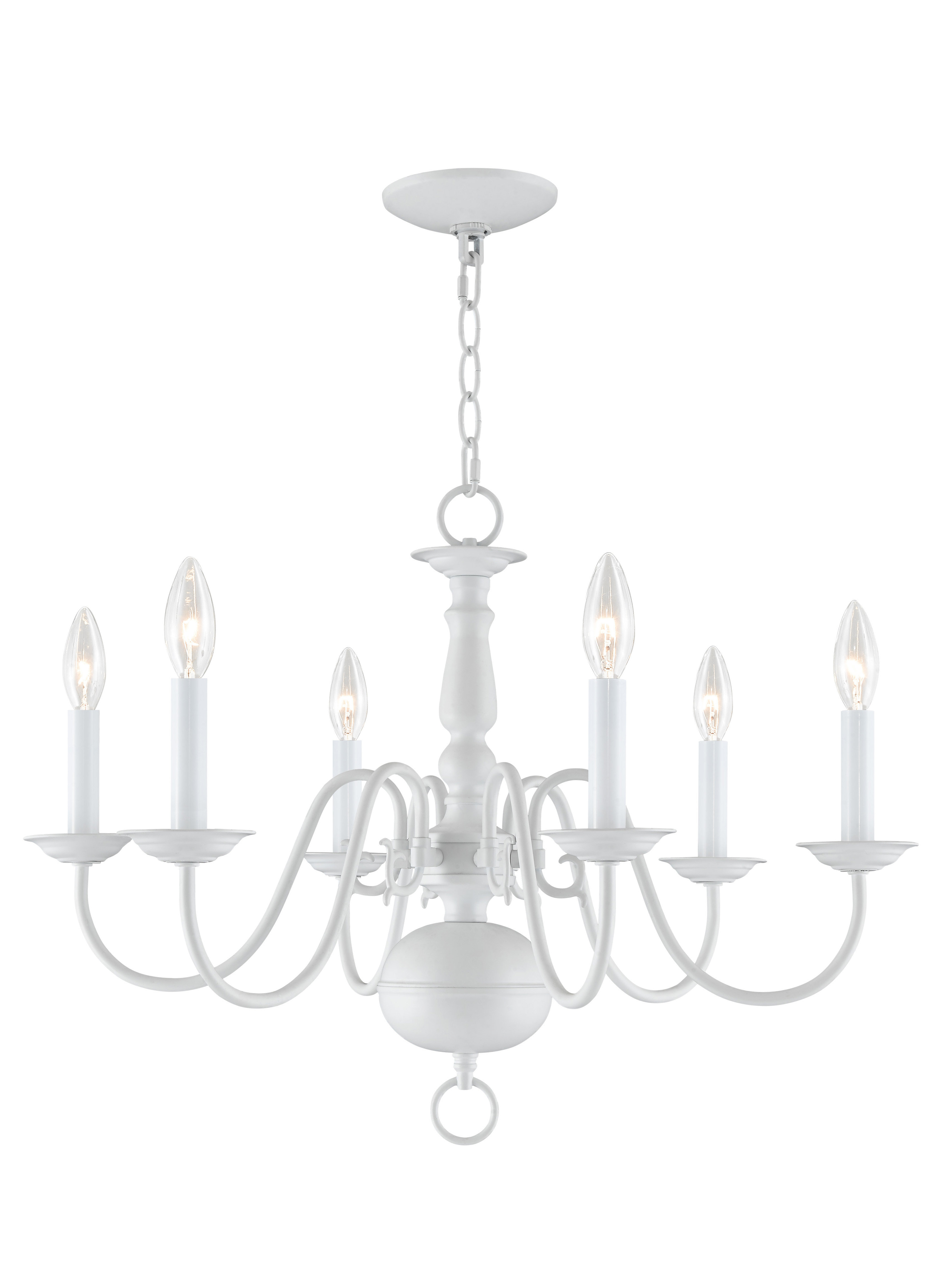 2020 Three Posts Allensby 6-Light Candle Style Chandelier inside Berger 5-Light Candle Style Chandeliers